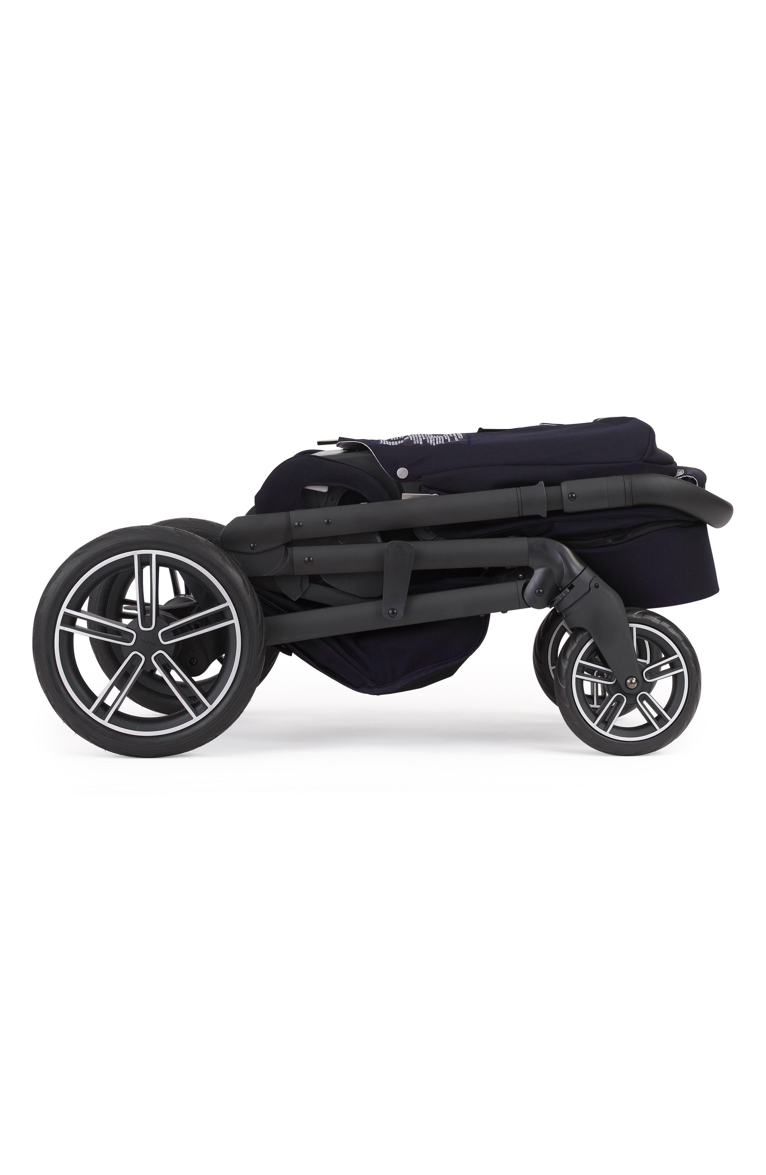 NUNA, MIXX2<sup>™</sup> Three Mode Stroller with All Terrain Tires, Alternate thumbnail 3, color, INDIGO