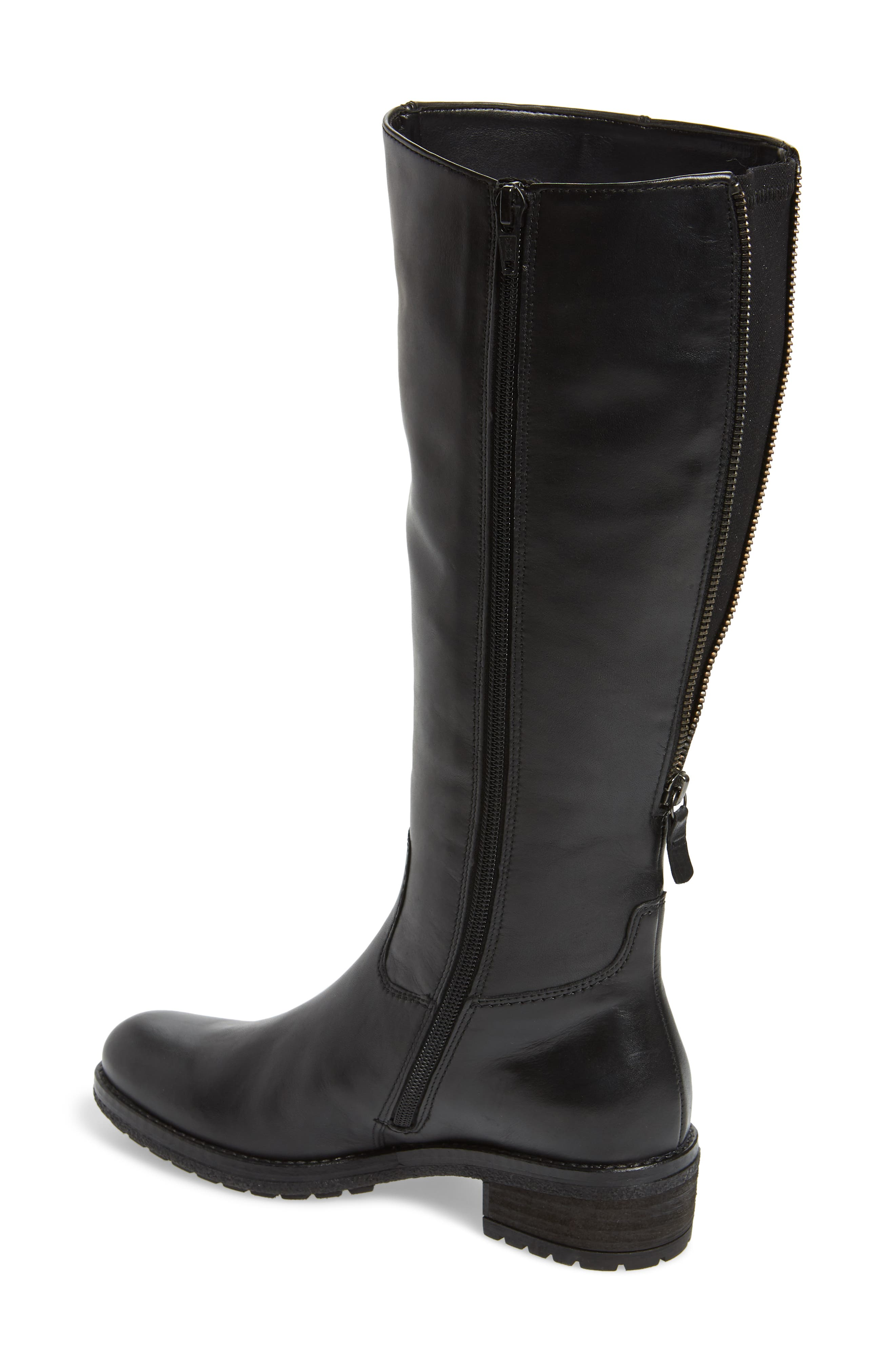GABOR, Classic Comfort Knee High Riding Boot, Alternate thumbnail 2, color, BLACK LEATHER
