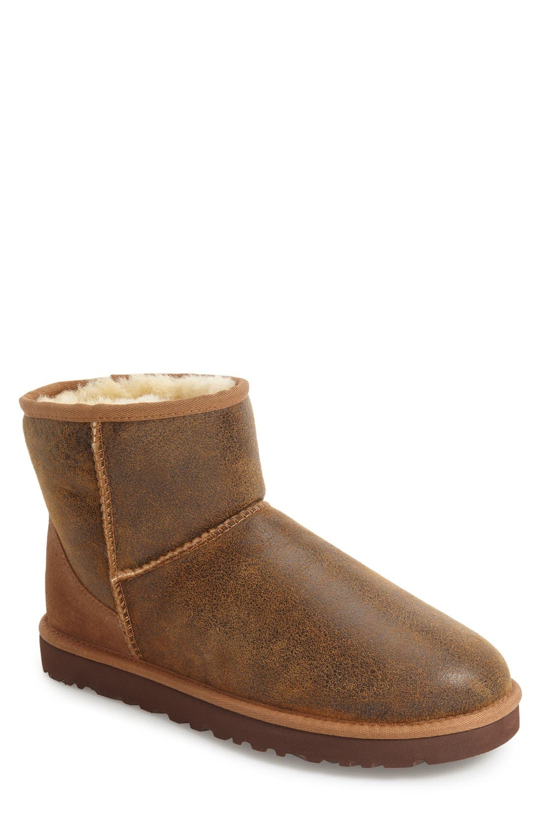 Ugg Classic Mini Bomber Boot With Genuine Shearling Or Uggpure(TM) Lining, 8- Brown