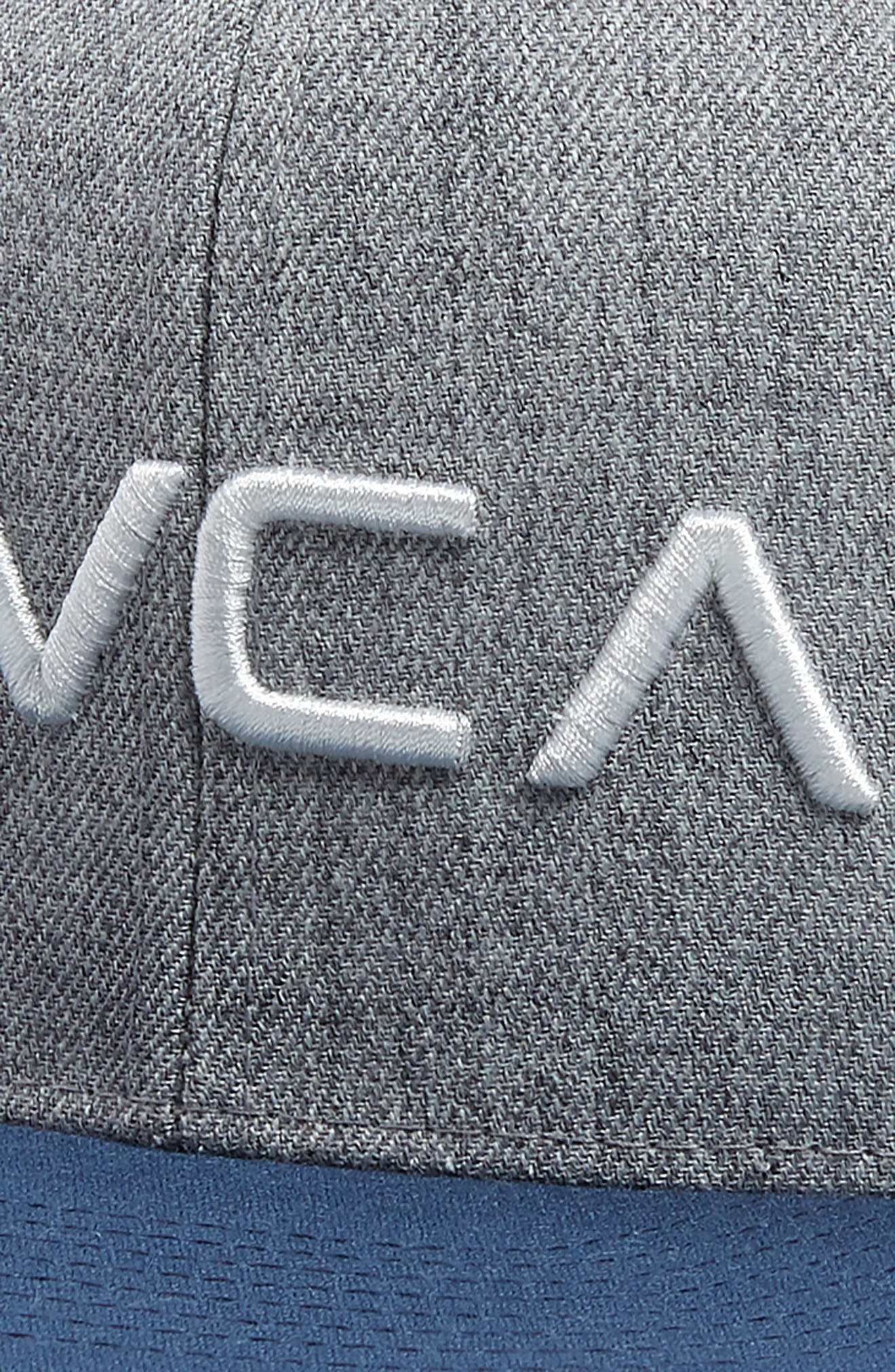 RVCA, Twill Snapback Baseball Cap, Alternate thumbnail 3, color, GREY BLUE