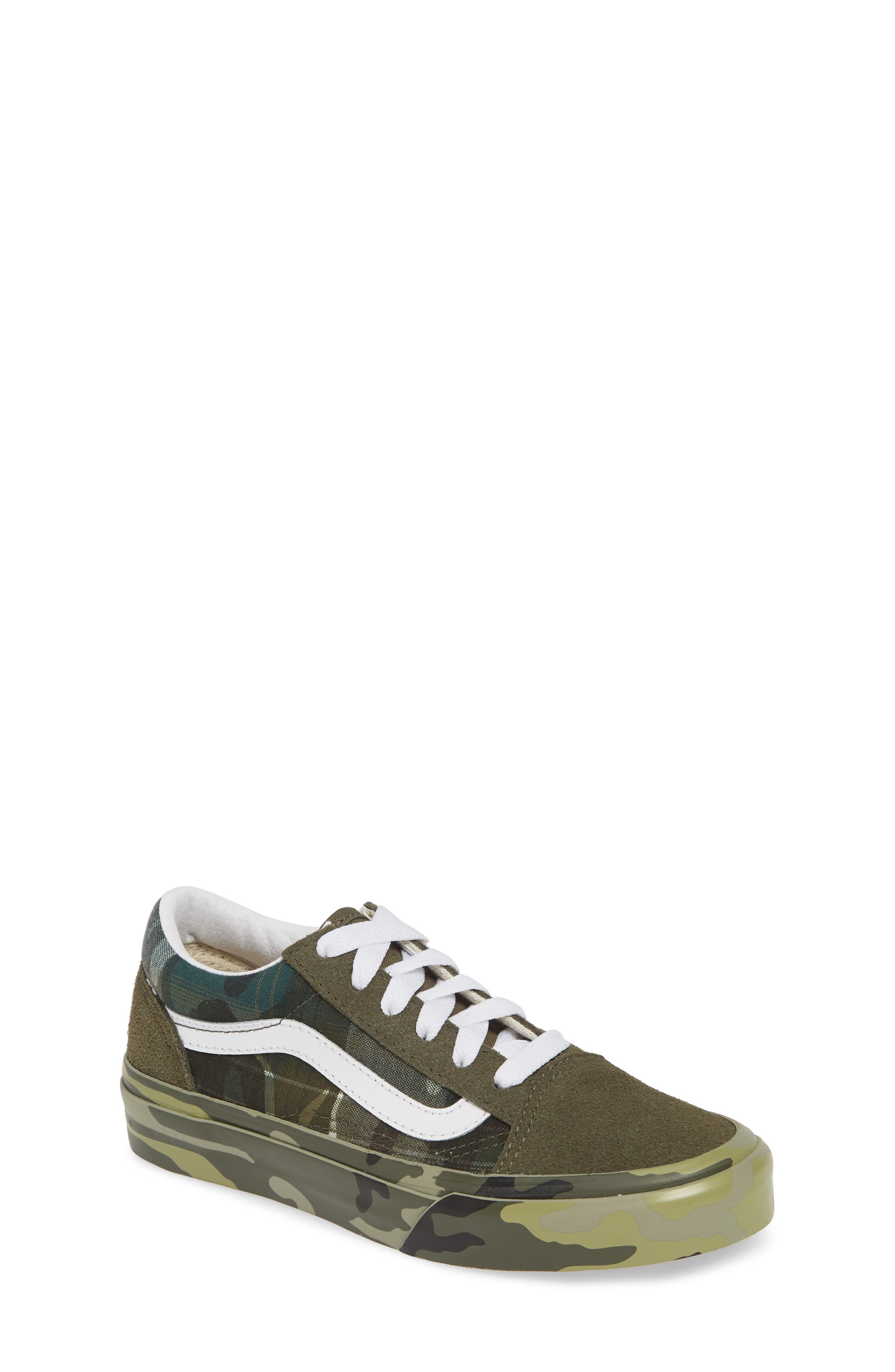 VANS Old Skool Sneaker, Main, color, PLAID CAMO GRAPE LEAF/ WHITE