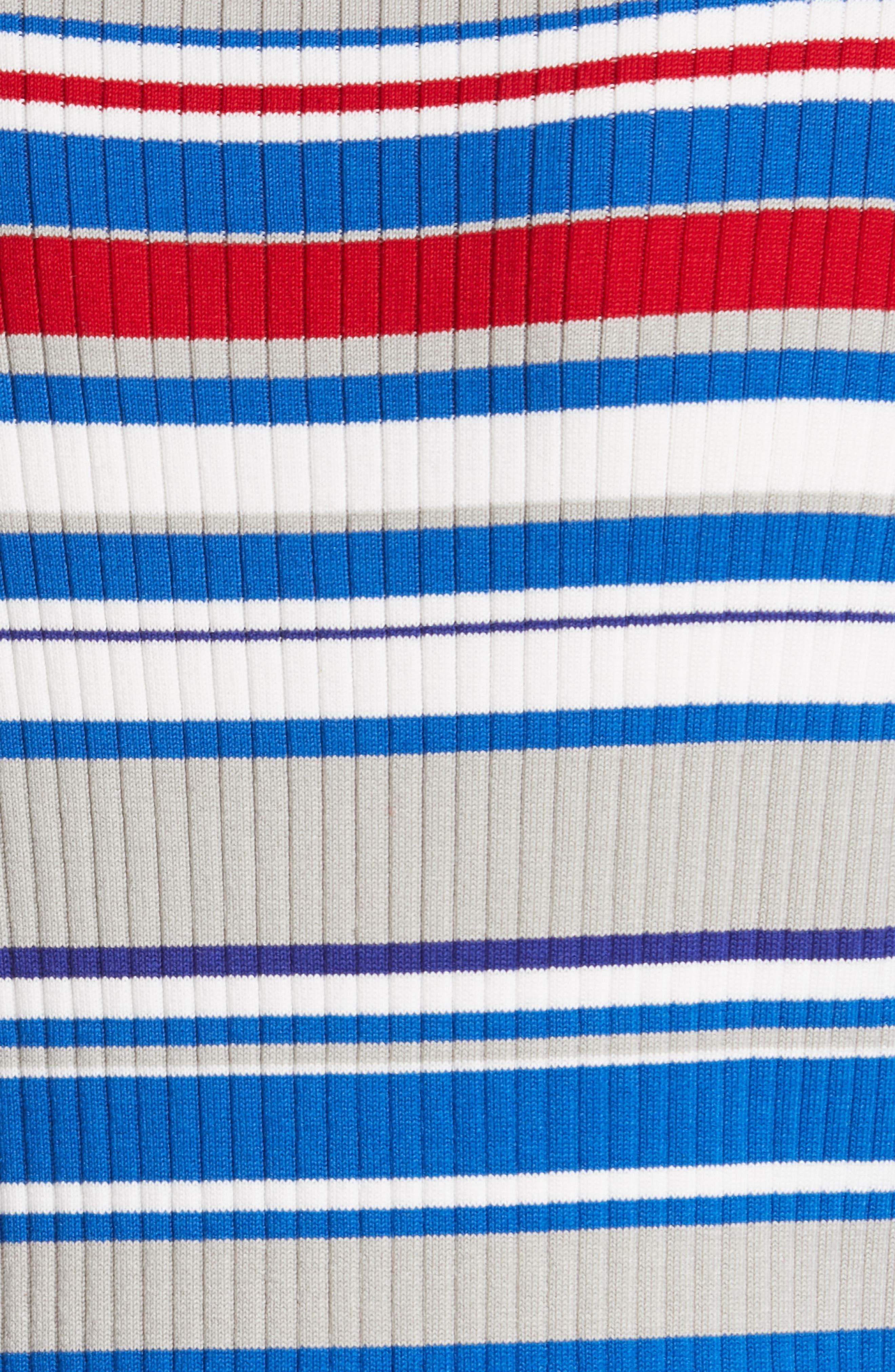 RAG & BONE, Mason Stripe Top, Alternate thumbnail 5, color, BLU