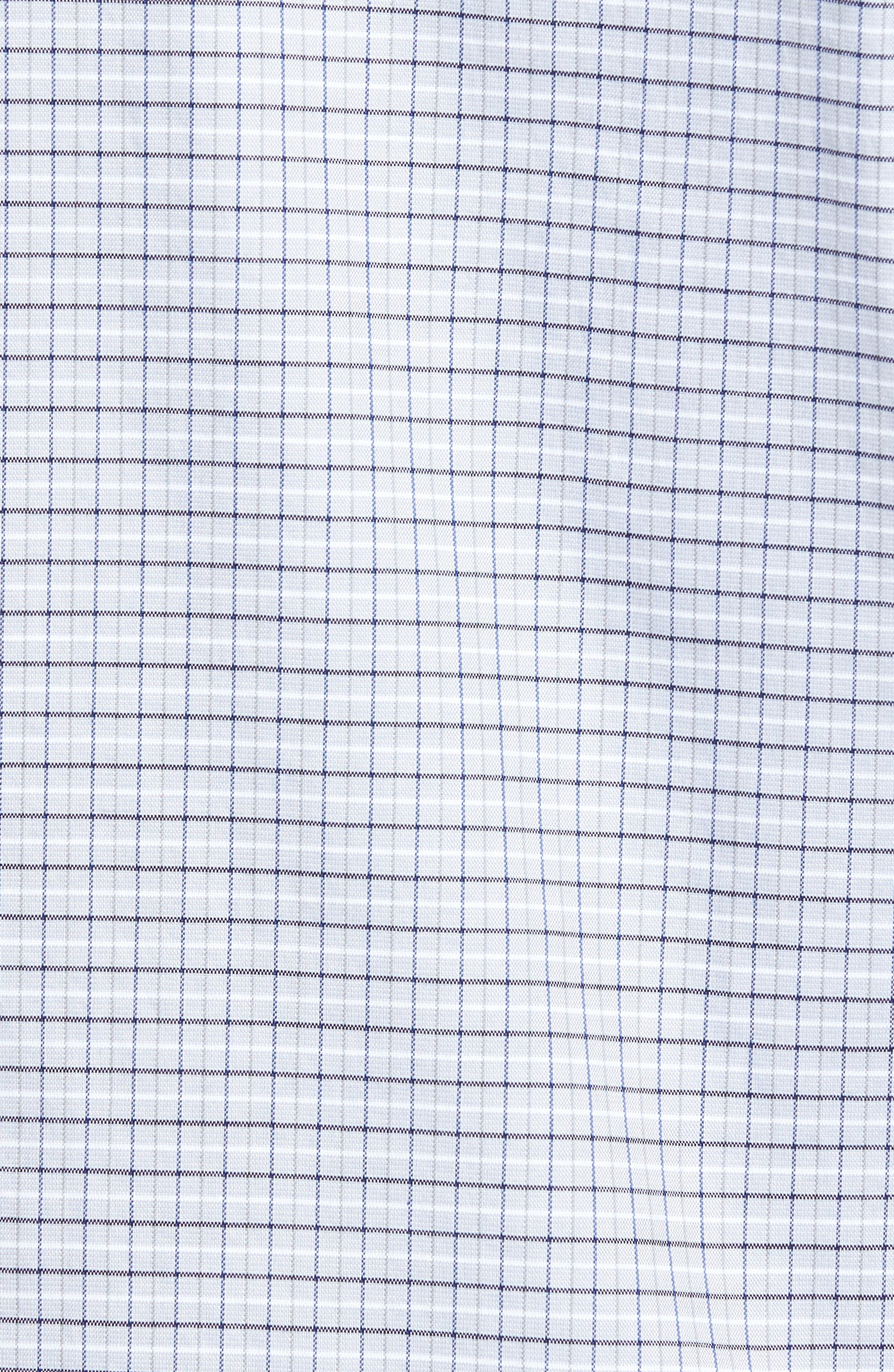 LACOSTE, Slim Fit Plaid Shirt, Alternate thumbnail 5, color, 061