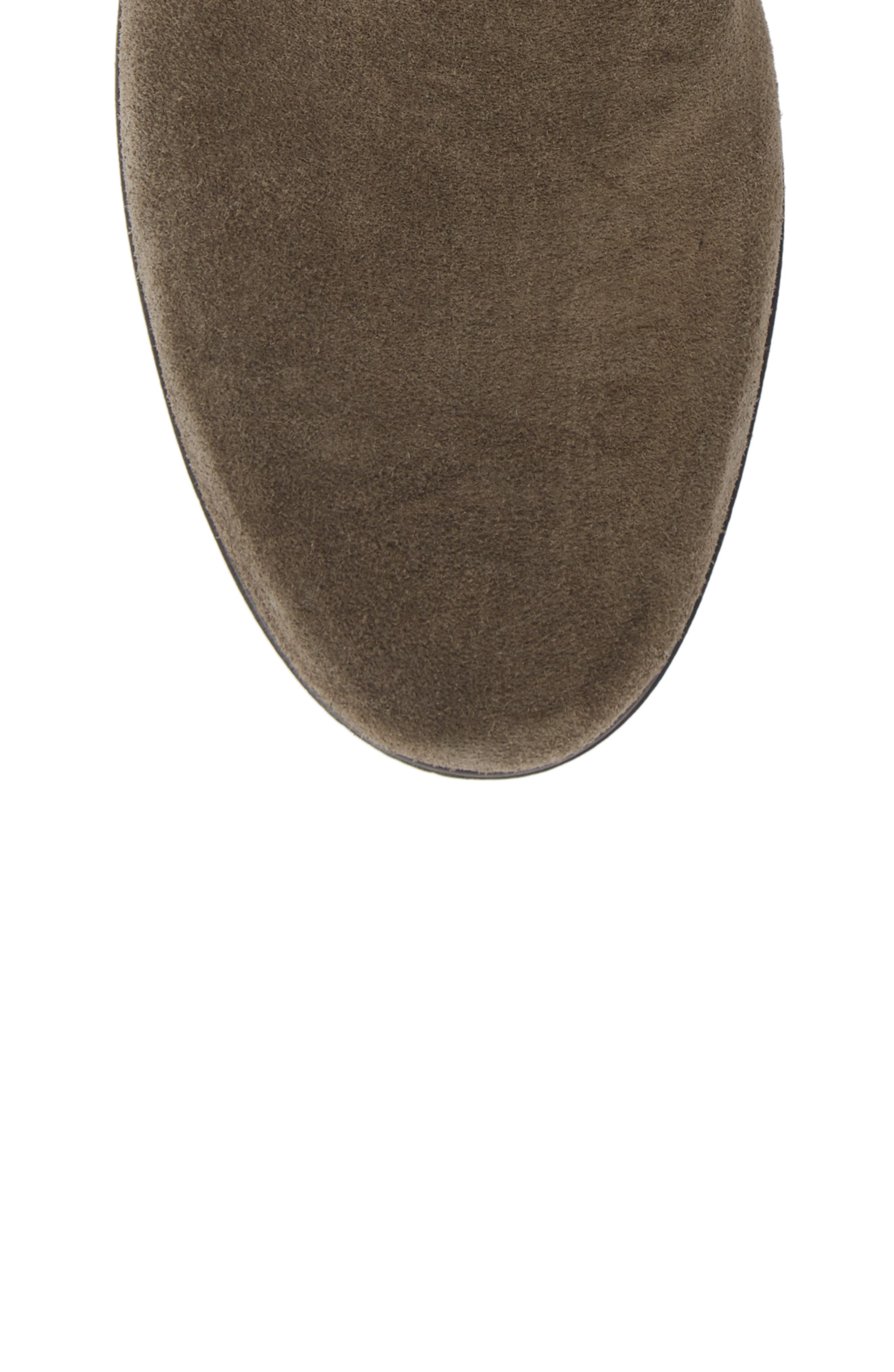 THE FLEXX, Slimmer Chelsea Wedge Boot, Alternate thumbnail 5, color, BROWN SUEDE