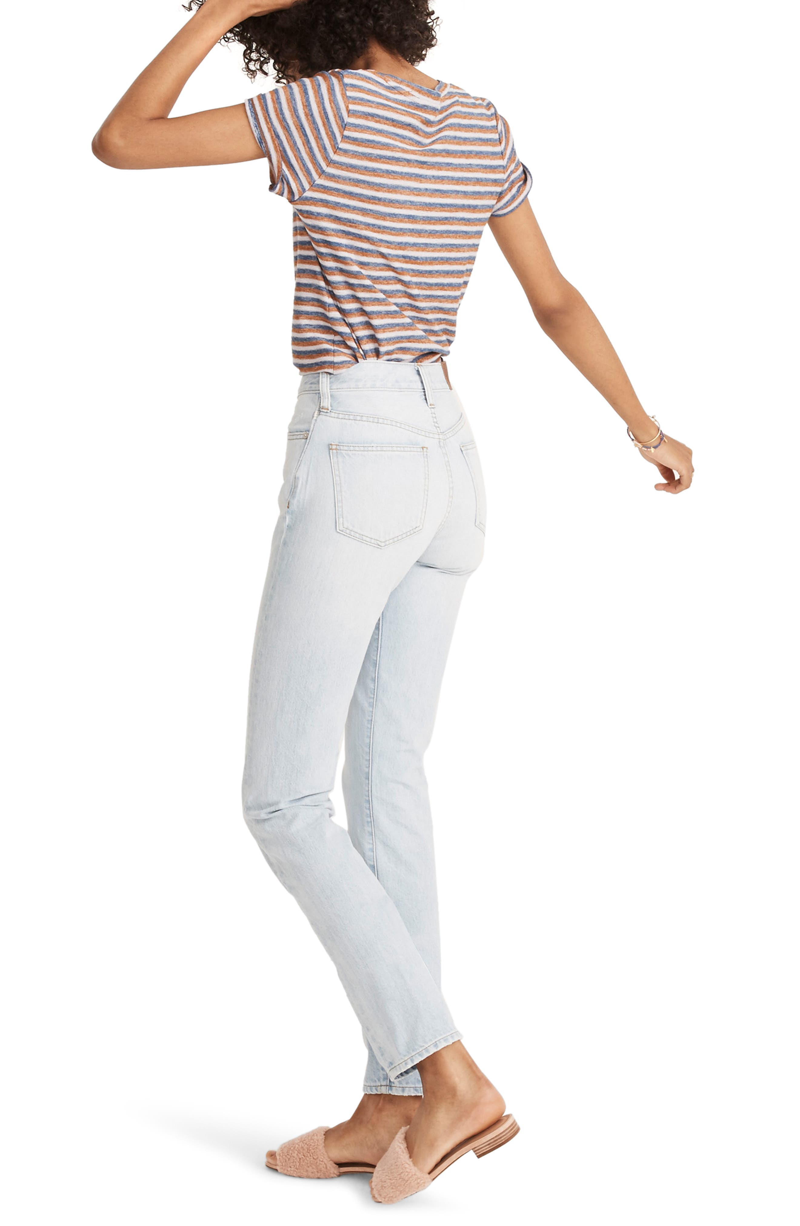 MADEWELL, 'Perfect Summer' High Rise Ankle Jeans, Alternate thumbnail 2, color, FITZGERALD WASH