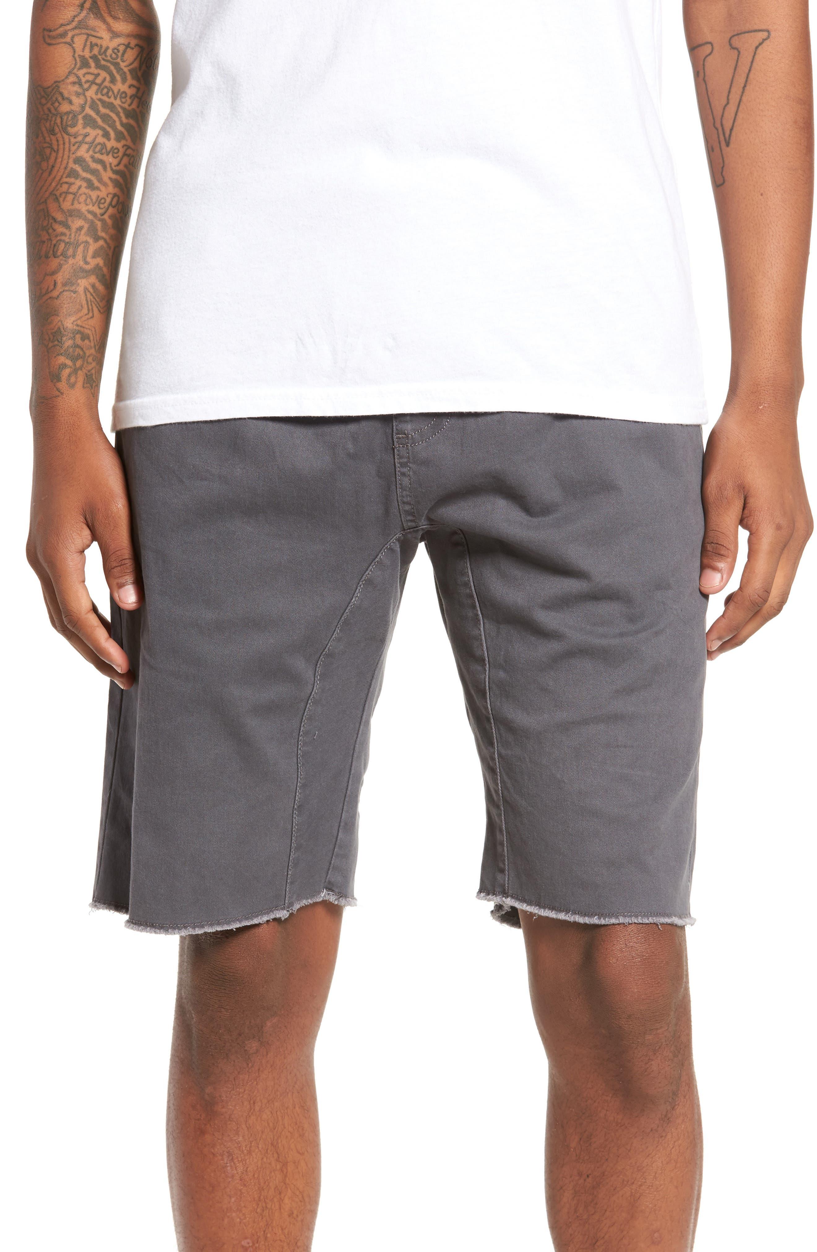 THE RAIL Jogger Shorts, Main, color, GREY ONYX
