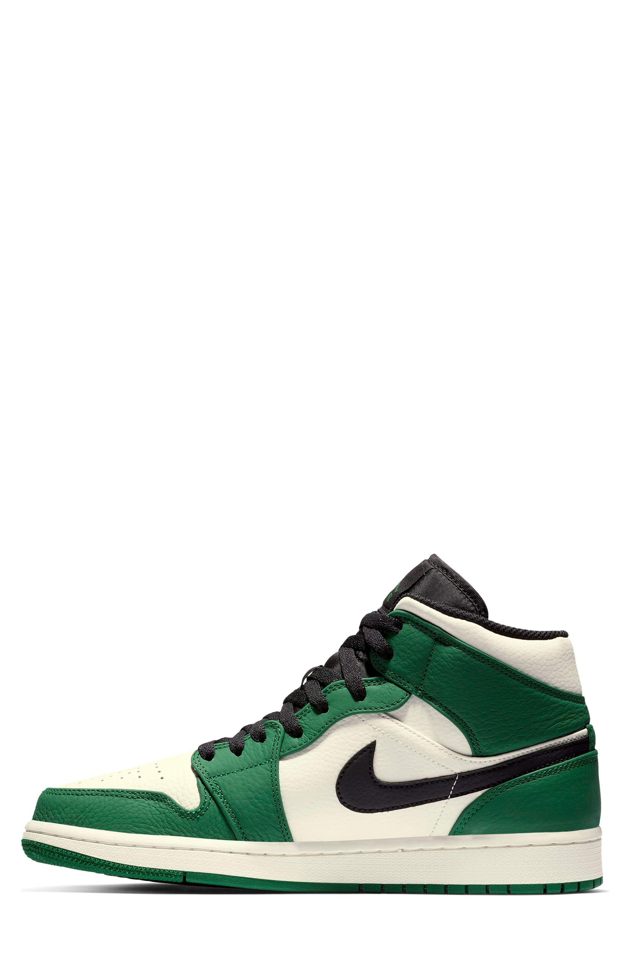 NIKE, Air Jordan 1 Mid Winterized Sneaker, Alternate thumbnail 7, color, 301