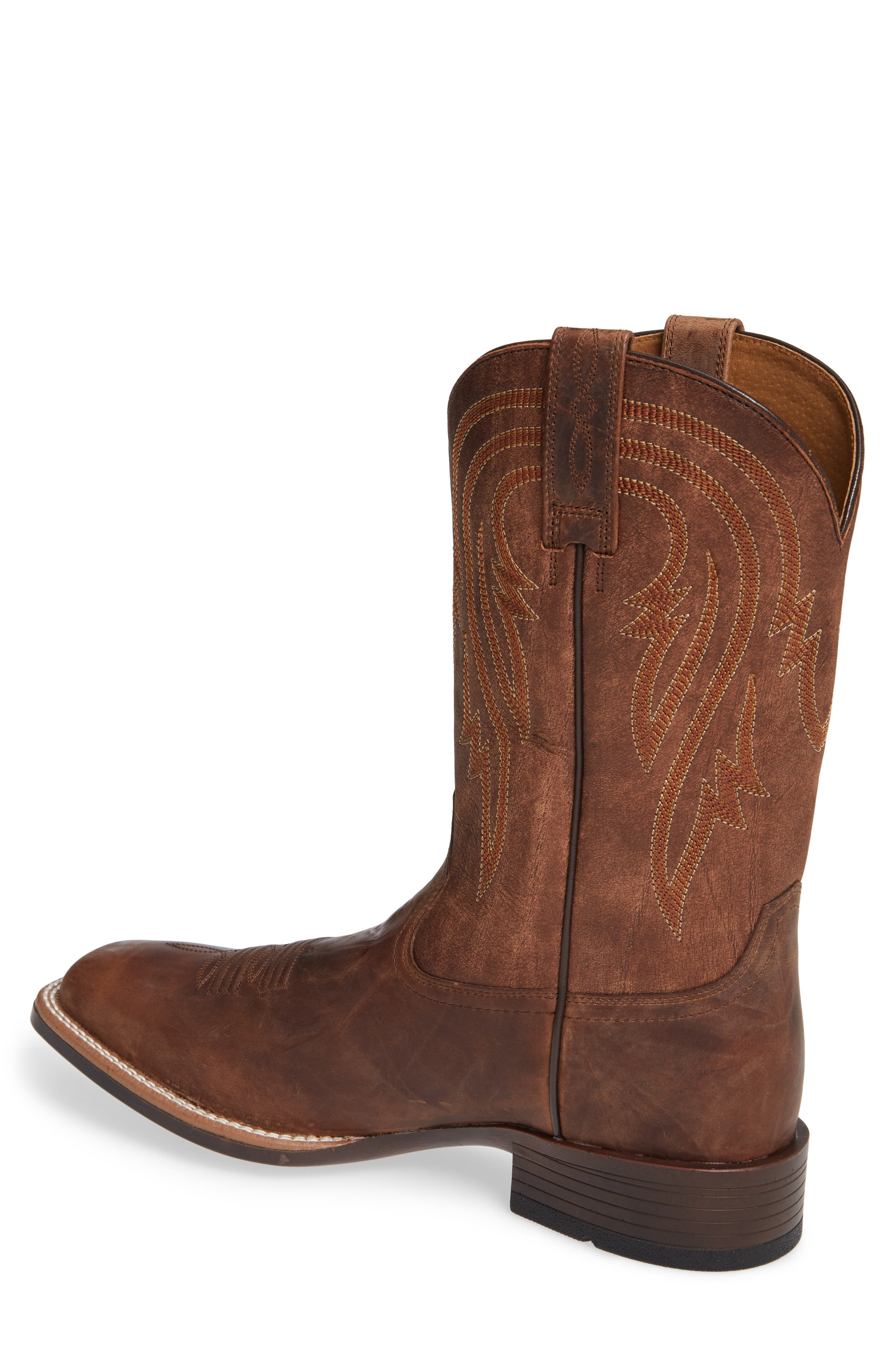 ARIAT, Plano Cowboy Boot, Alternate thumbnail 2, color, TANNIN/ TACK ROM LEATHER