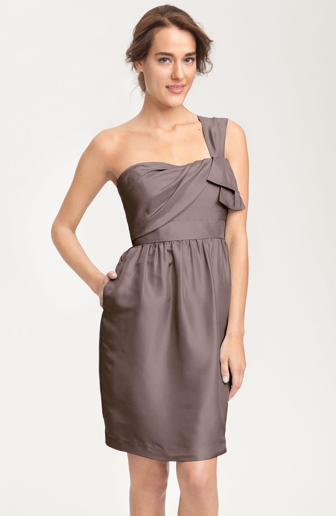 JENNY YOO, Convertible Shantung Dress, Main thumbnail 1, color, 020