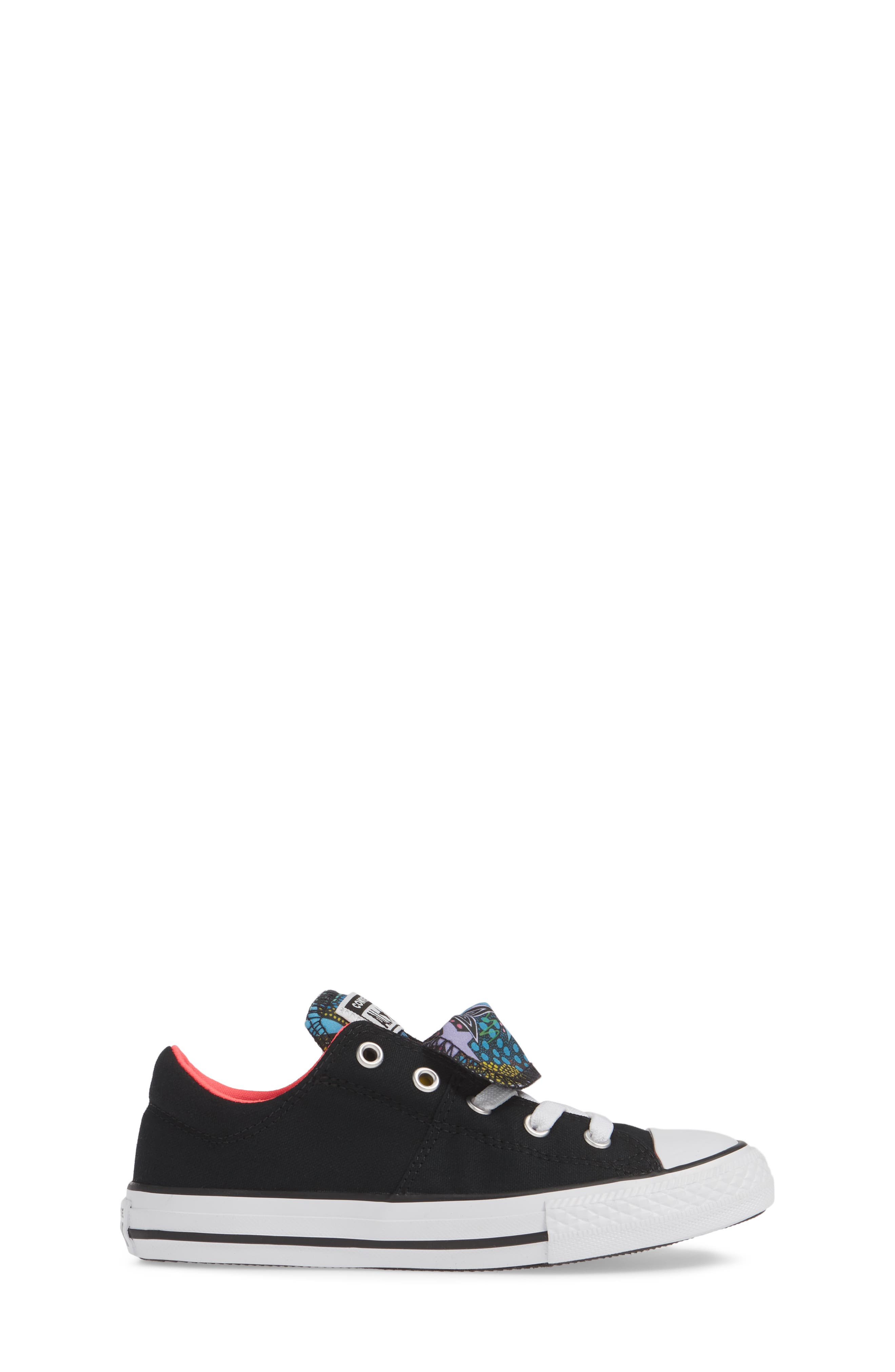 CONVERSE, Chuck Taylor<sup>®</sup> All Star<sup>®</sup> Maddie Double Tongue Sneaker, Alternate thumbnail 3, color, 001