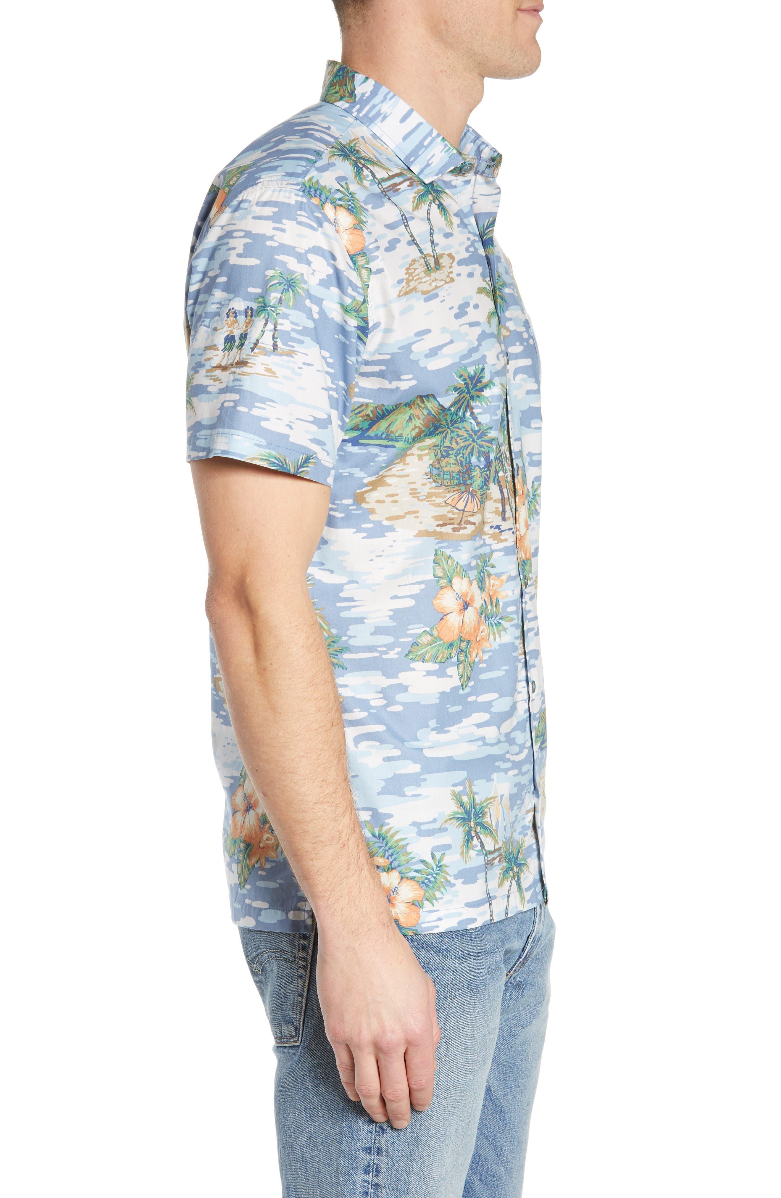 TORI RICHARD, Archipelago Regular Fit Sport Shirt, Alternate thumbnail 4, color, 061