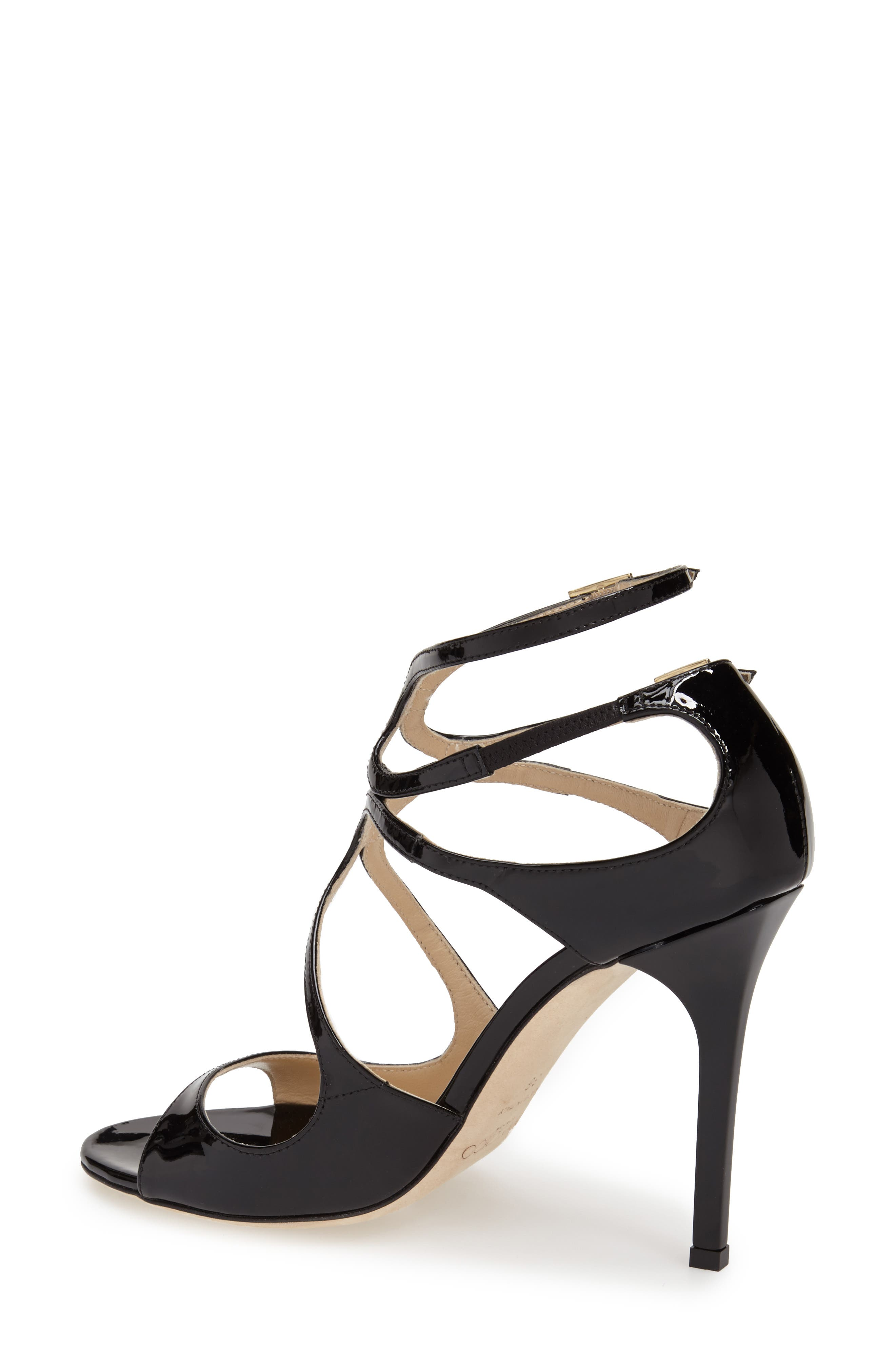 JIMMY CHOO, 'Lang' Sandal, Main thumbnail 1, color, BLACK PATENT