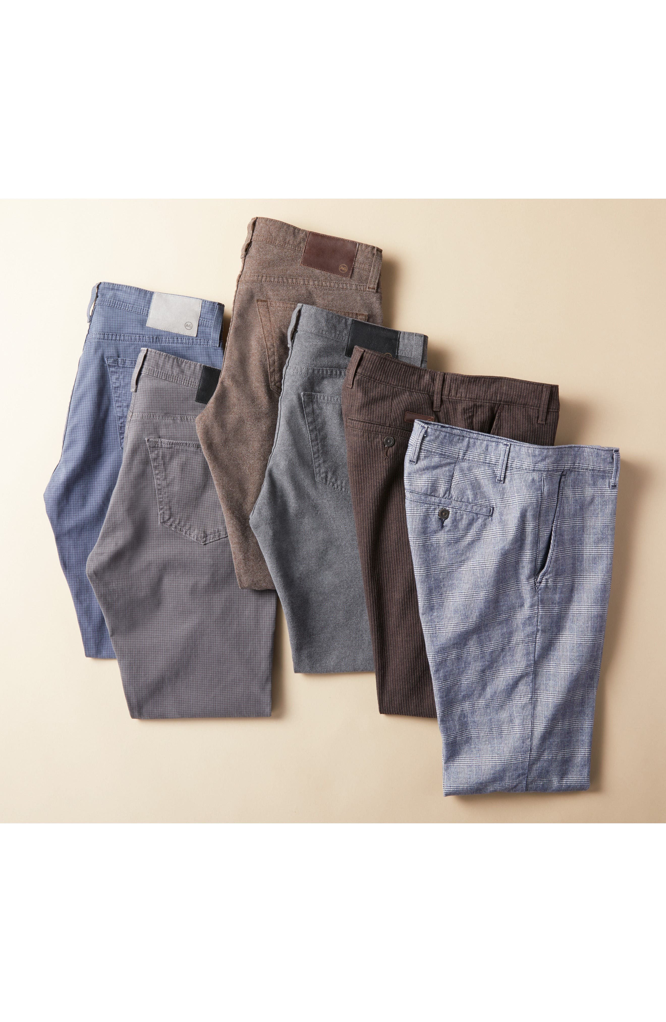 AG, Everett SUD Print Slim Straight Leg Pants, Alternate thumbnail 8, color, NO_COLOR