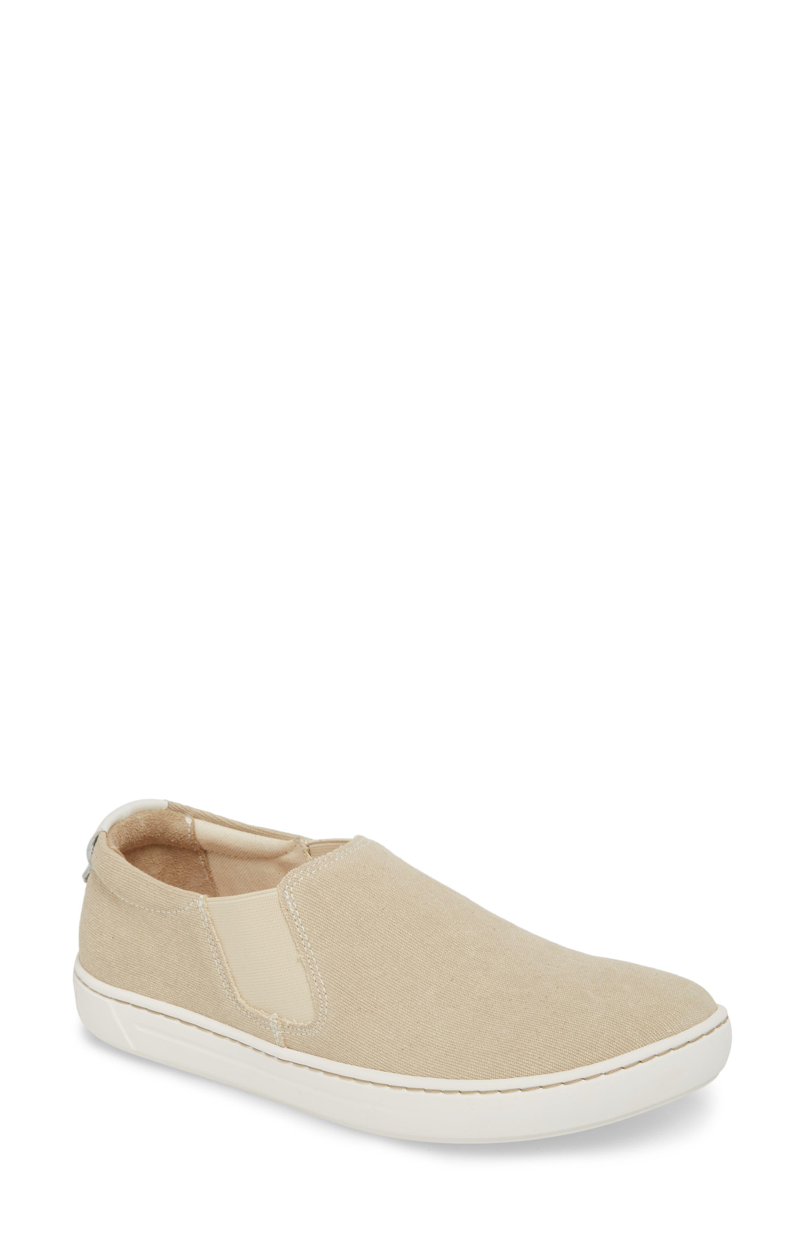 BIRKENSTOCK Barrie Slip-On Sneaker, Main, color, SAND CANVAS