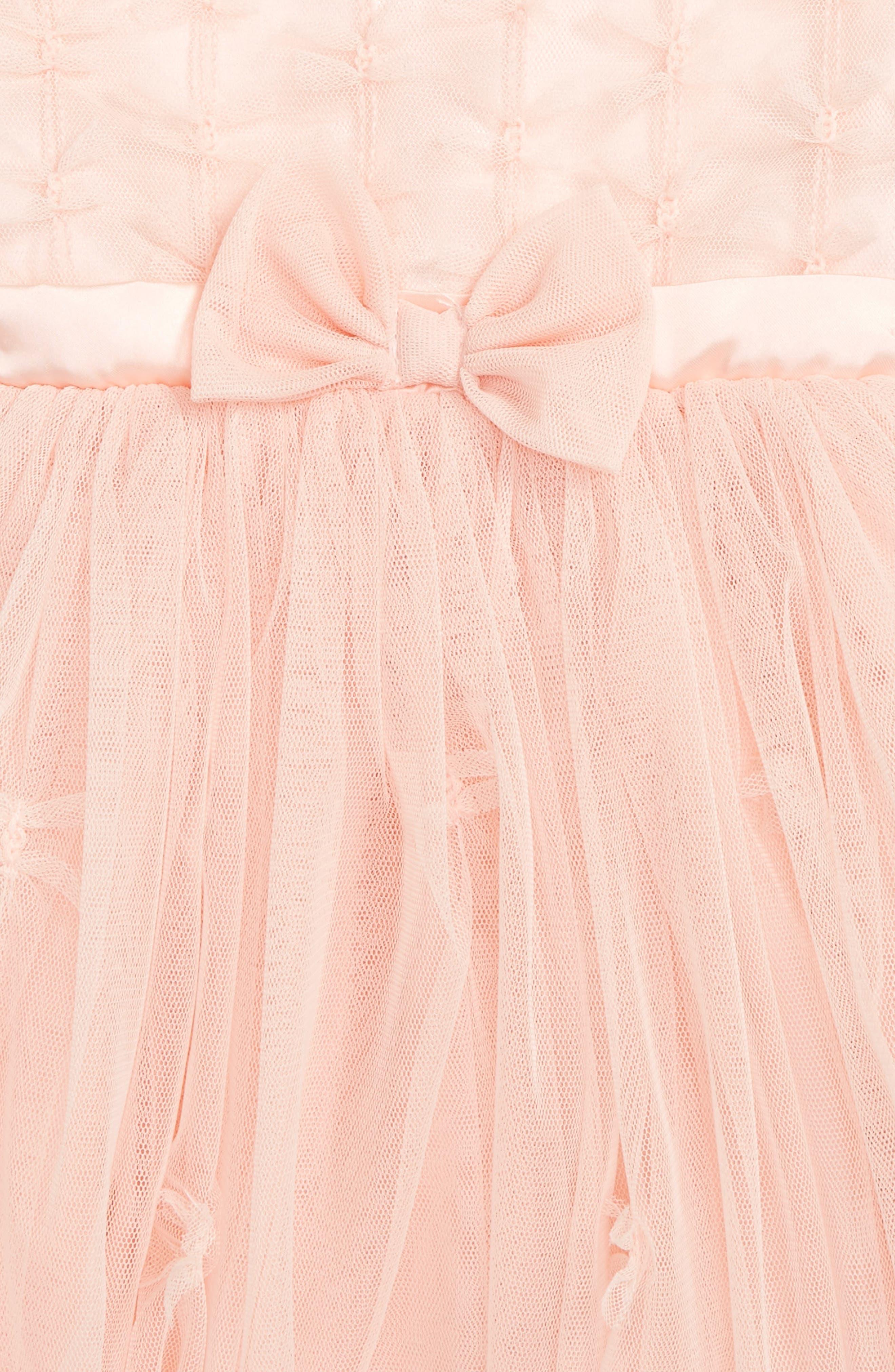 POPATU, Sleeveless Tulle Dress, Alternate thumbnail 2, color, PEACH