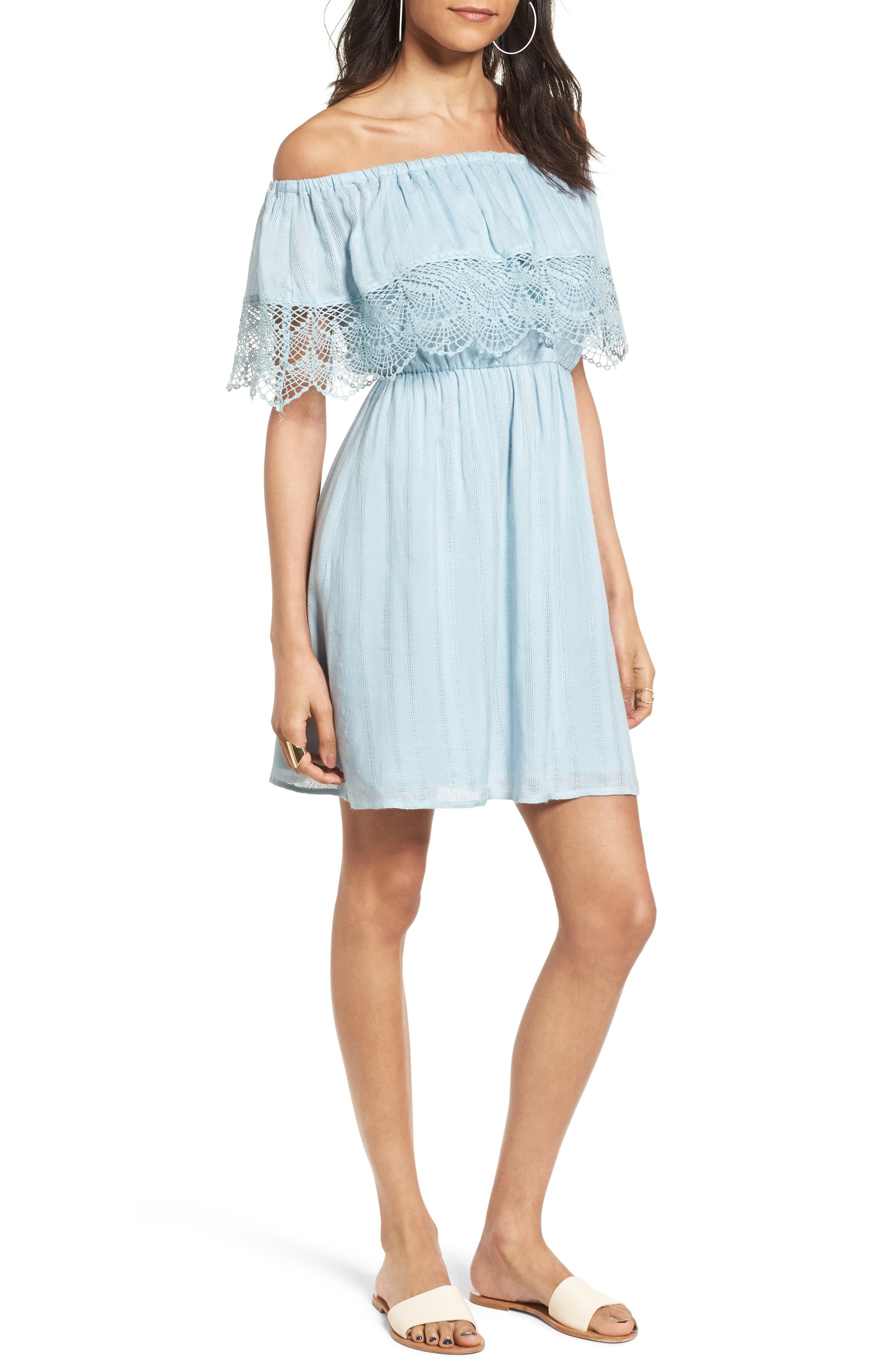 --- Off the Shoulder Dress, Main, color, 464
