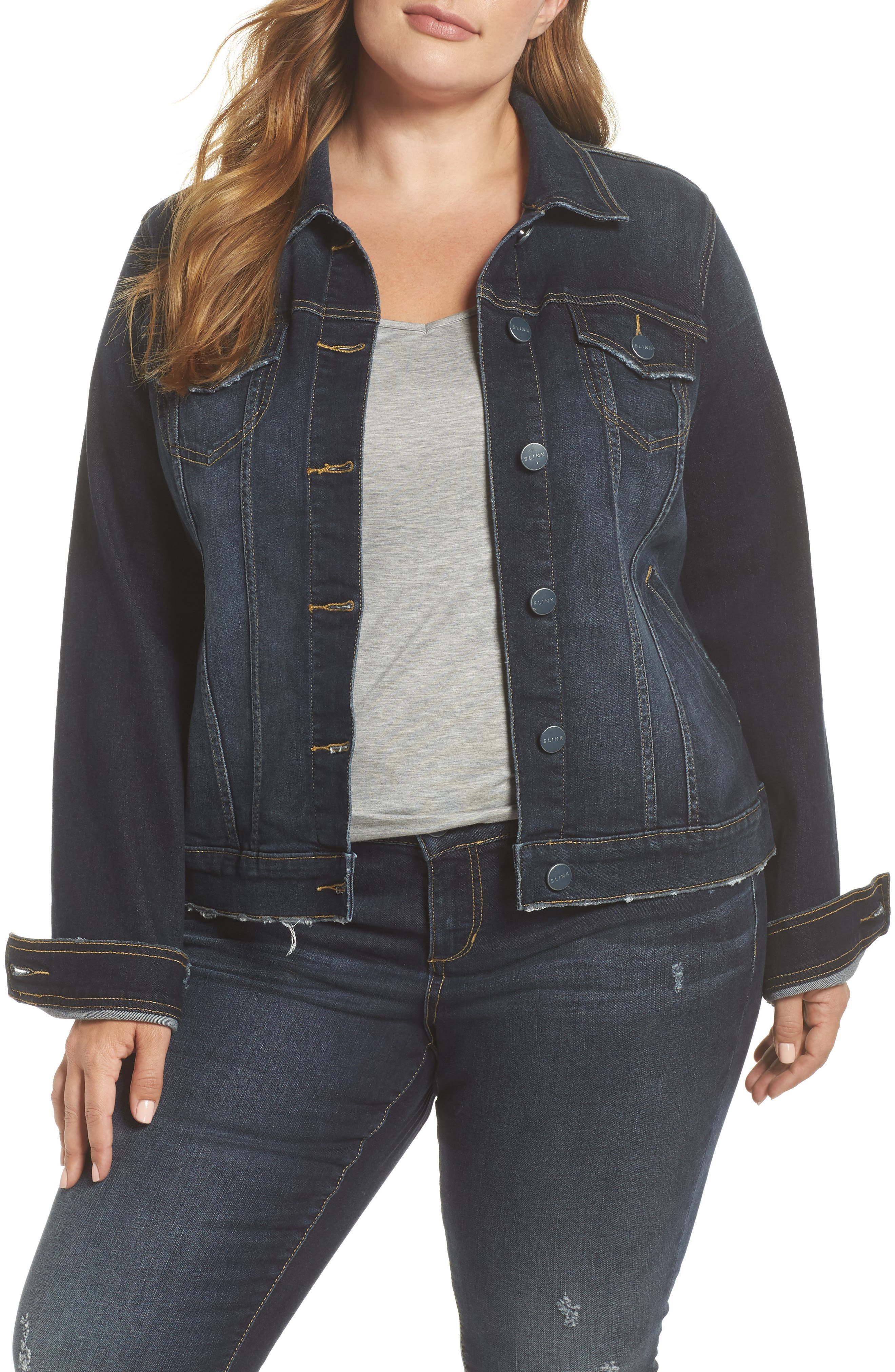 SLINK JEANS, Stretch Denim Jacket, Main thumbnail 1, color, BELLA