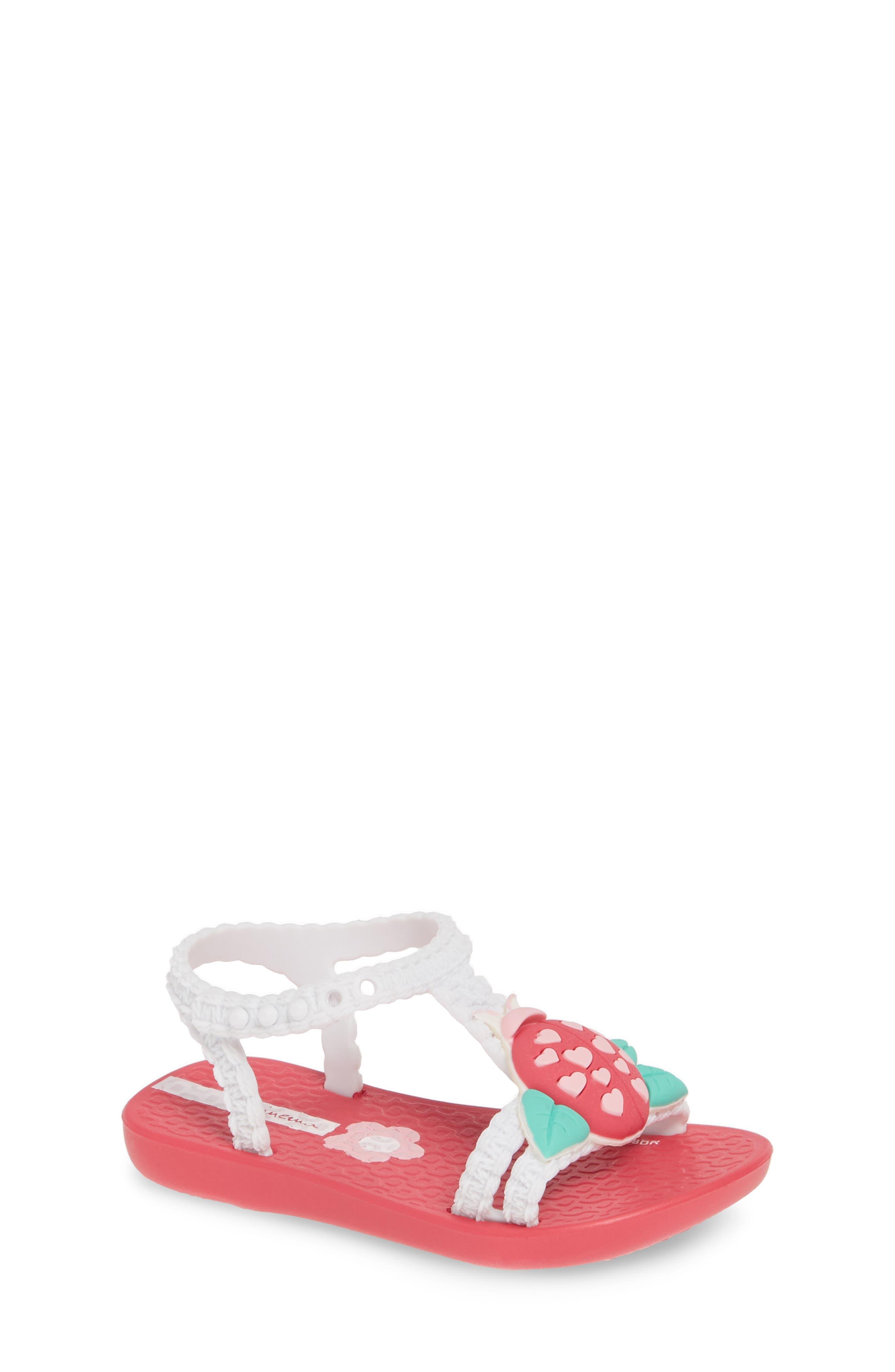 IPANEMA, Buggy Baby Sandal, Main thumbnail 1, color, PINK/ WHITE