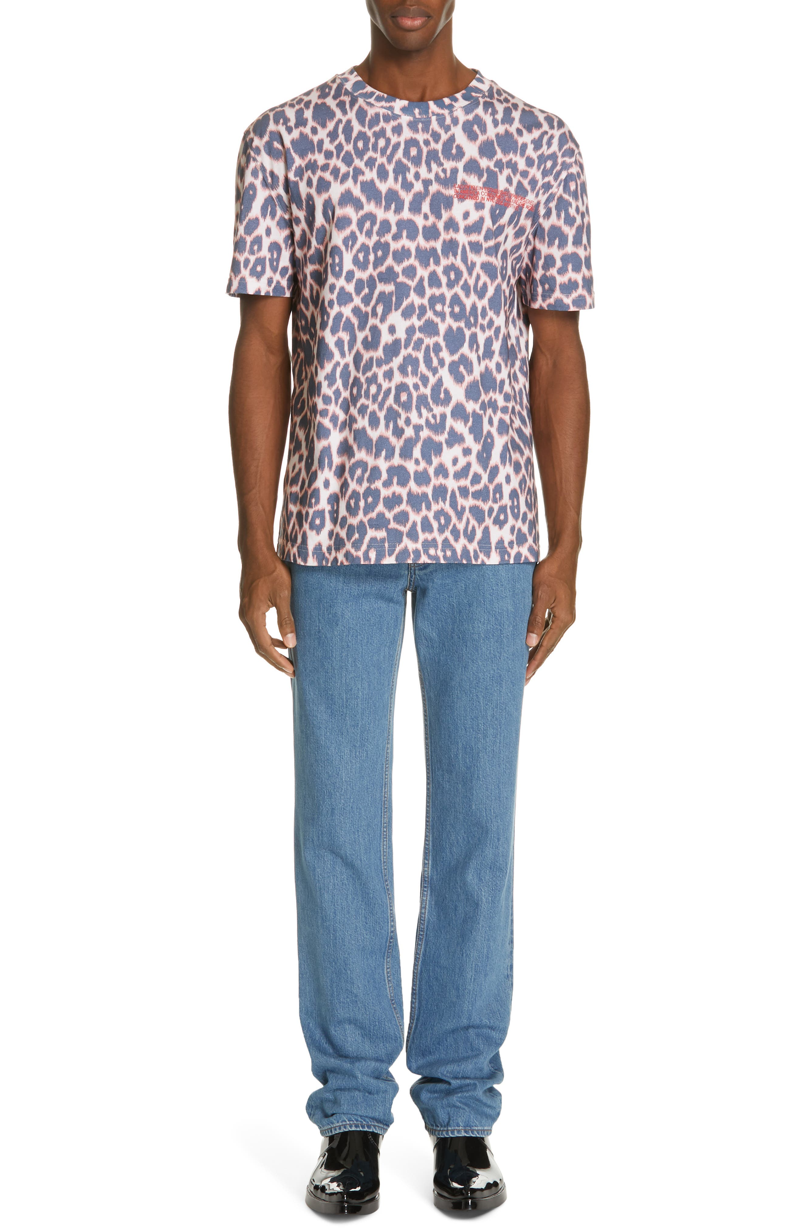 CALVIN KLEIN 205W39NYC, Electric Panther Print T-Shirt, Alternate thumbnail 7, color, ELECTRIC PANTHERE