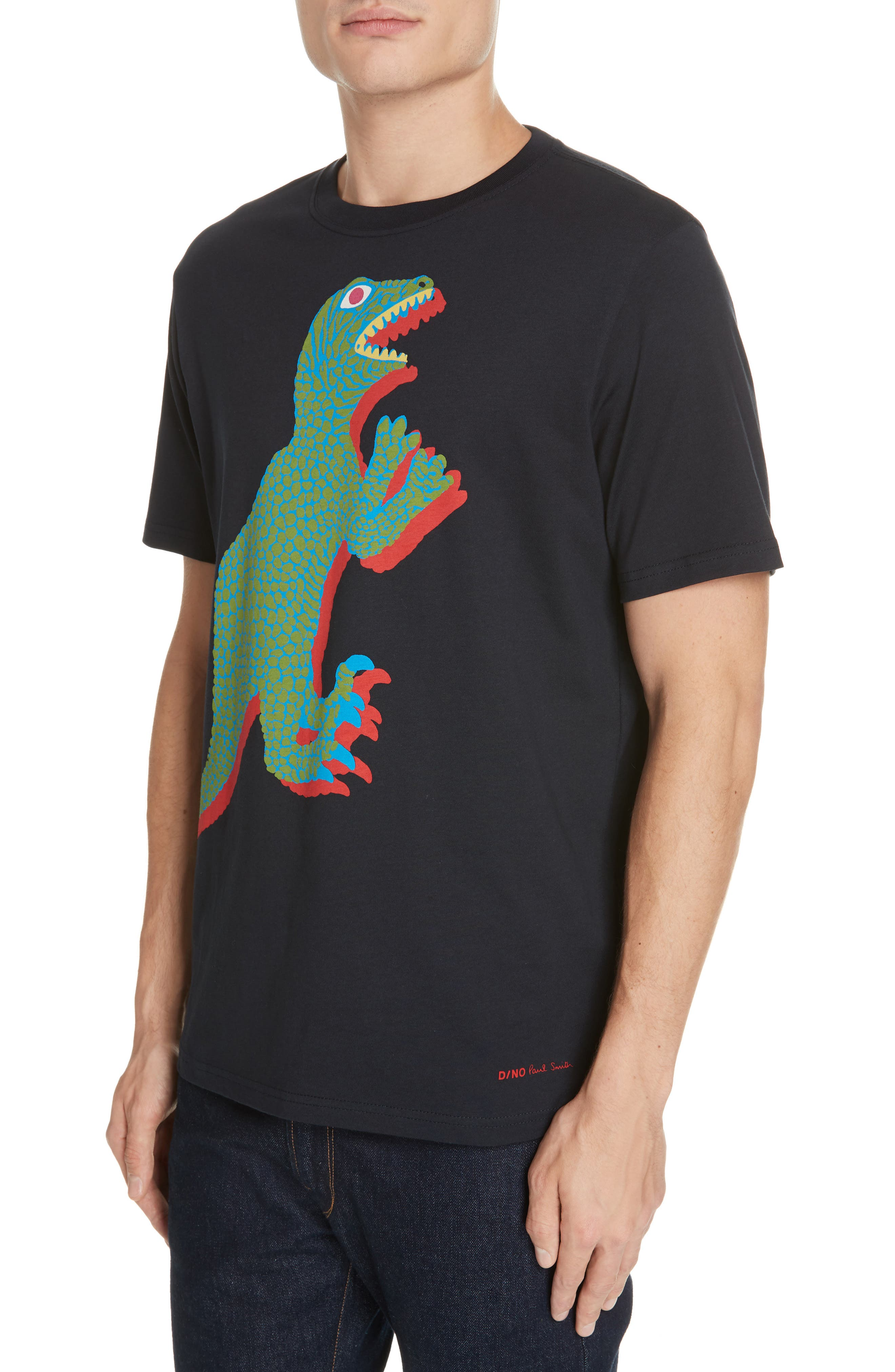 PS PAUL SMITH, Dino Graphic T-Shirt, Alternate thumbnail 4, color, 419