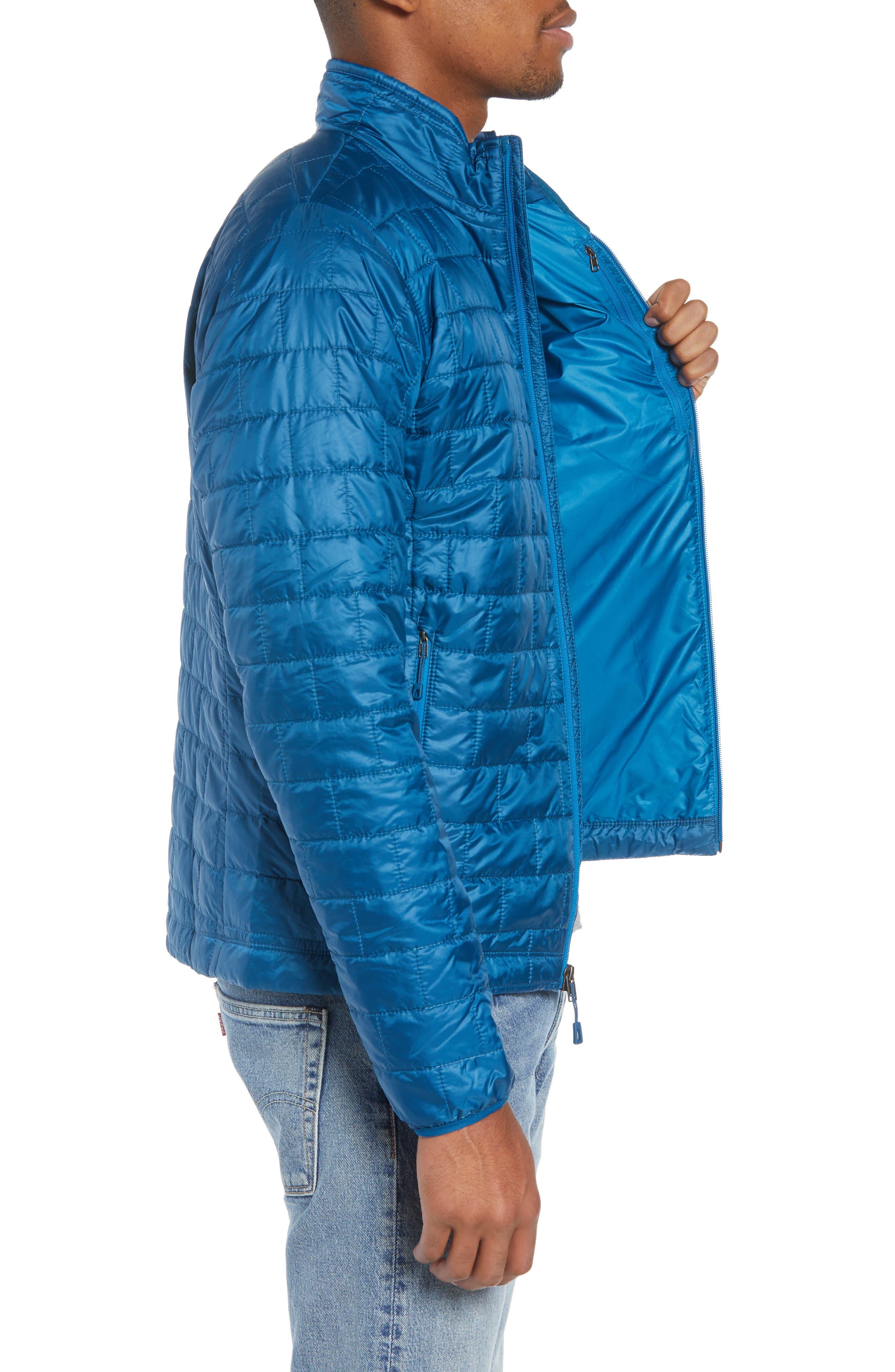 PATAGONIA, 'Nano Puff<sup>®</sup>' Water Resistant Jacket, Alternate thumbnail 4, color, BIG SUR BLUE W/ BALKAN BLUE