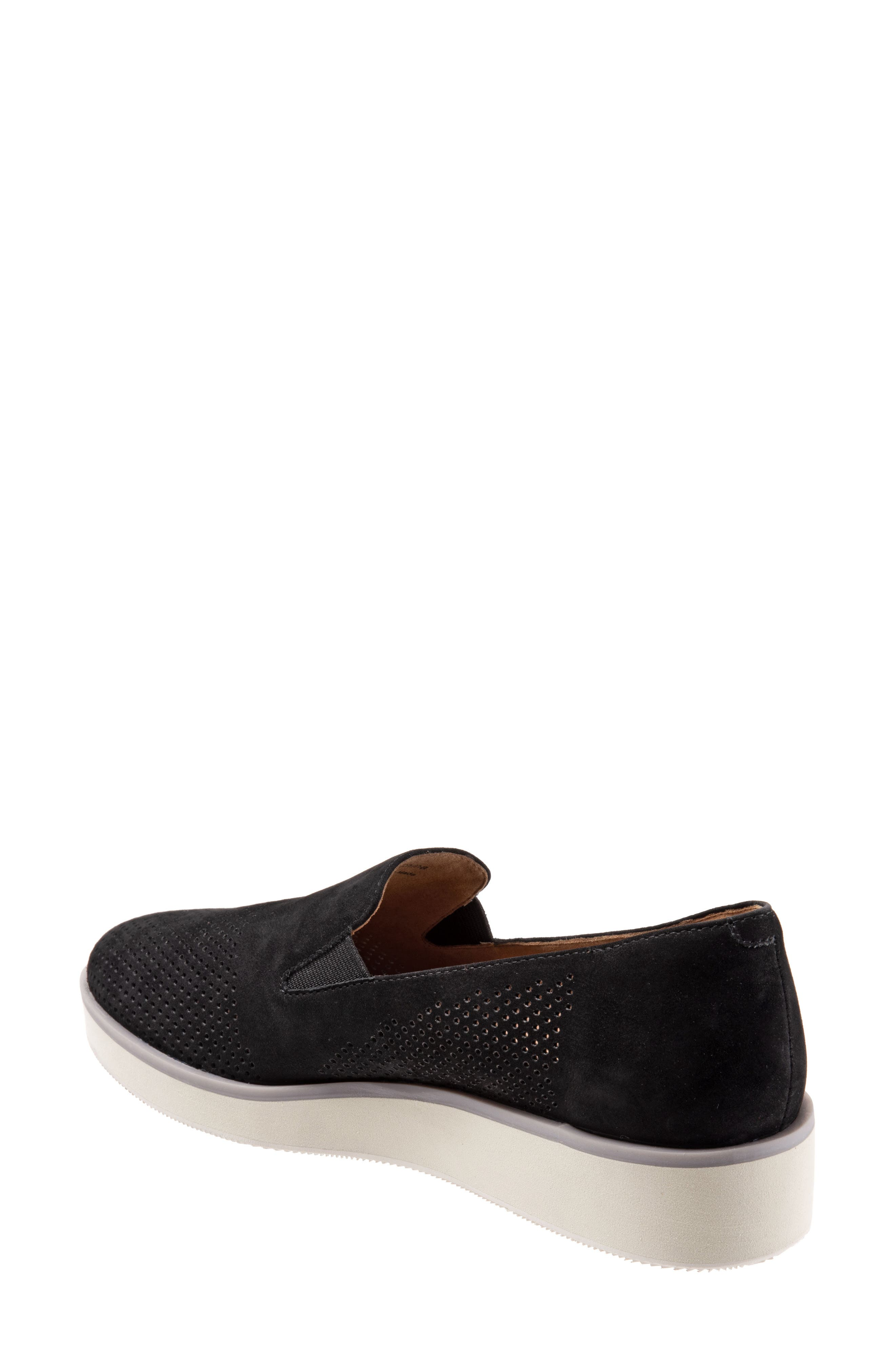 SOFTWALK<SUP>®</SUP>, Whistle Slip-On, Alternate thumbnail 2, color, BLACK/ BLACK LEATHER