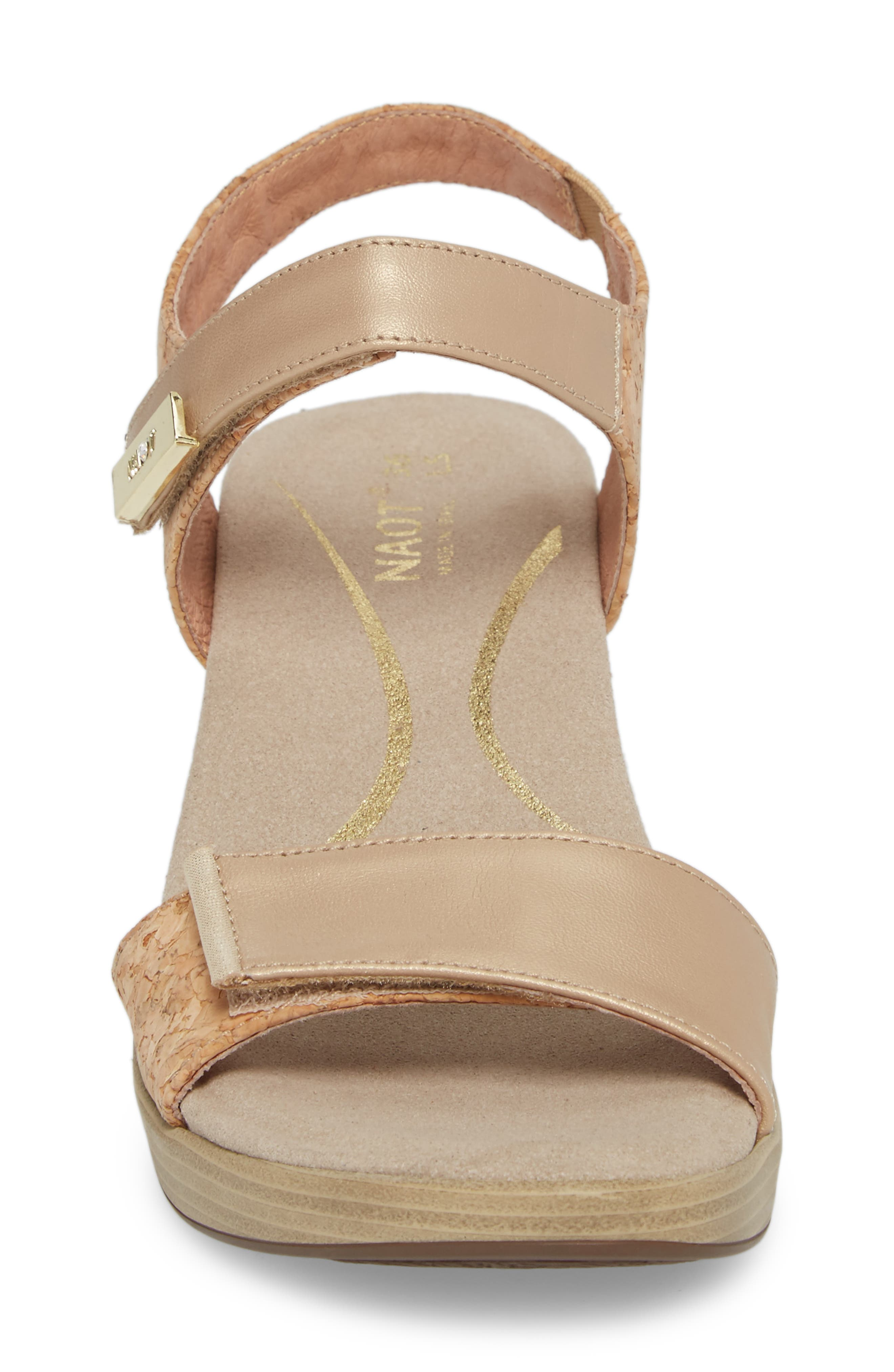 NAOT, 'Intact' Sandal, Alternate thumbnail 4, color, CHAMPAGNE LEATHER