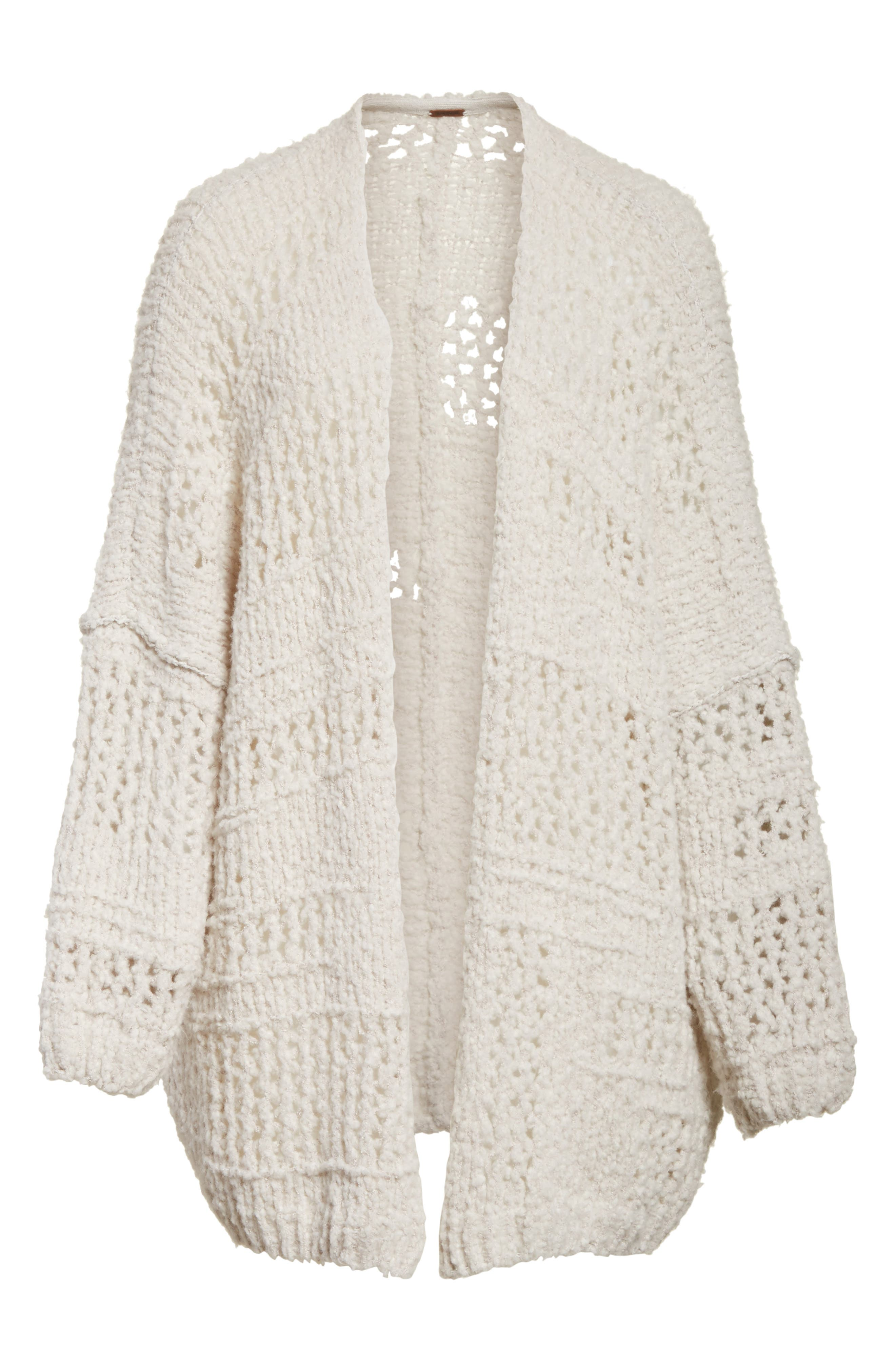 FREE PEOPLE, Saturday Morning Cardigan, Alternate thumbnail 6, color, 903