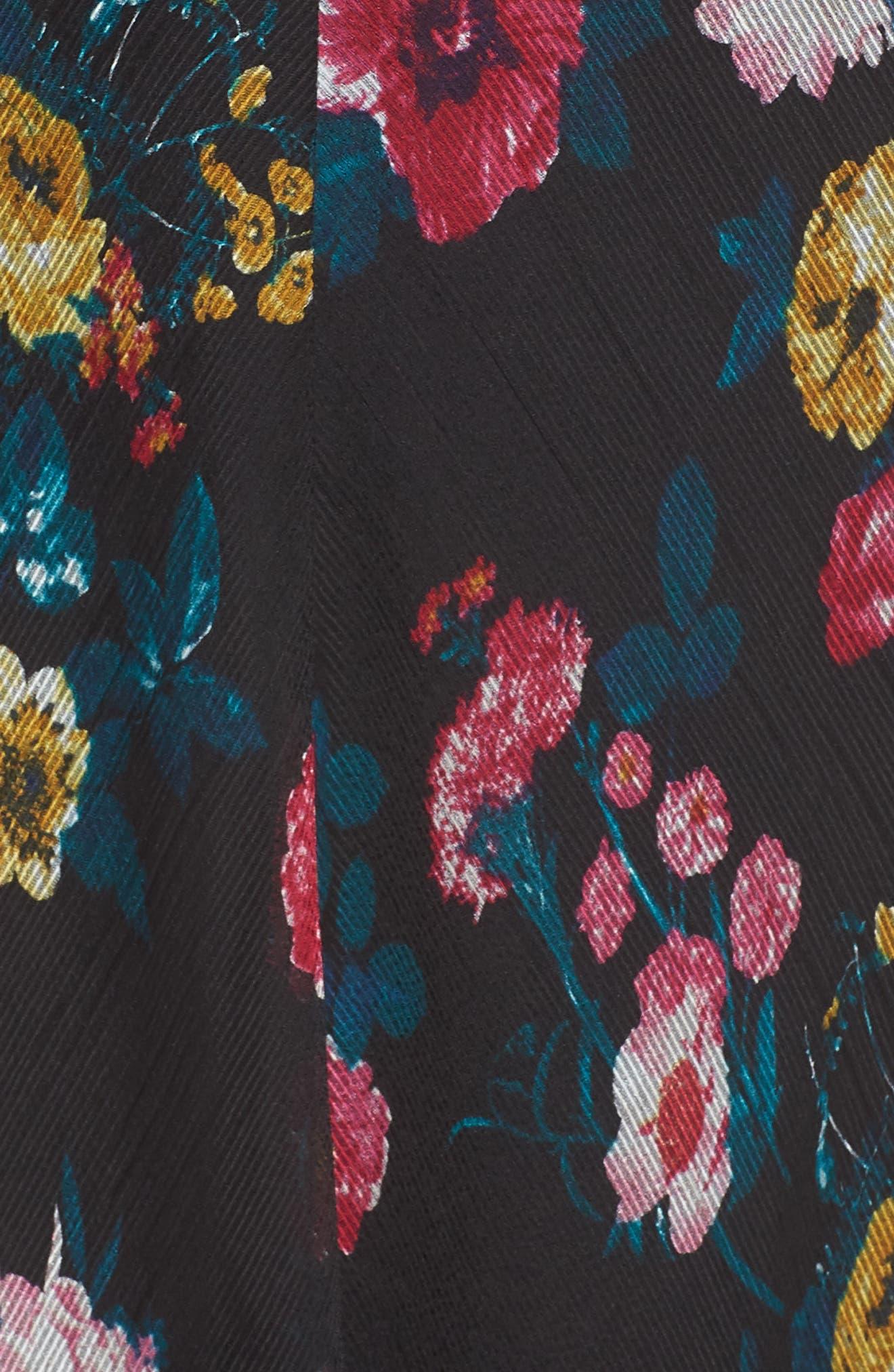 ALI & JAY, I've Got Wings Floral Chiffon Maxi Dress, Alternate thumbnail 6, color, 001