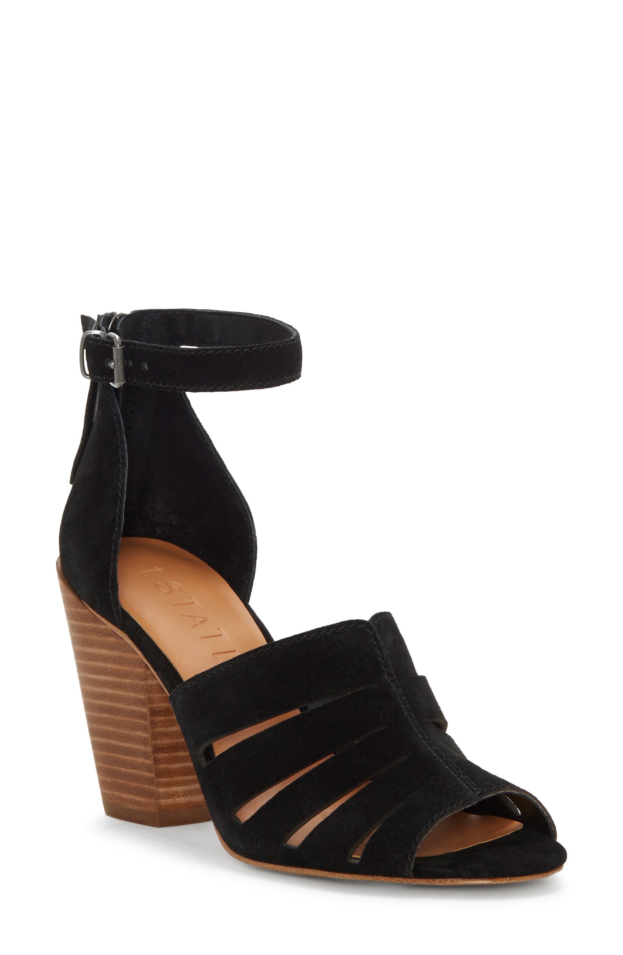 1.state Nallay Block Heel Sandal, Black