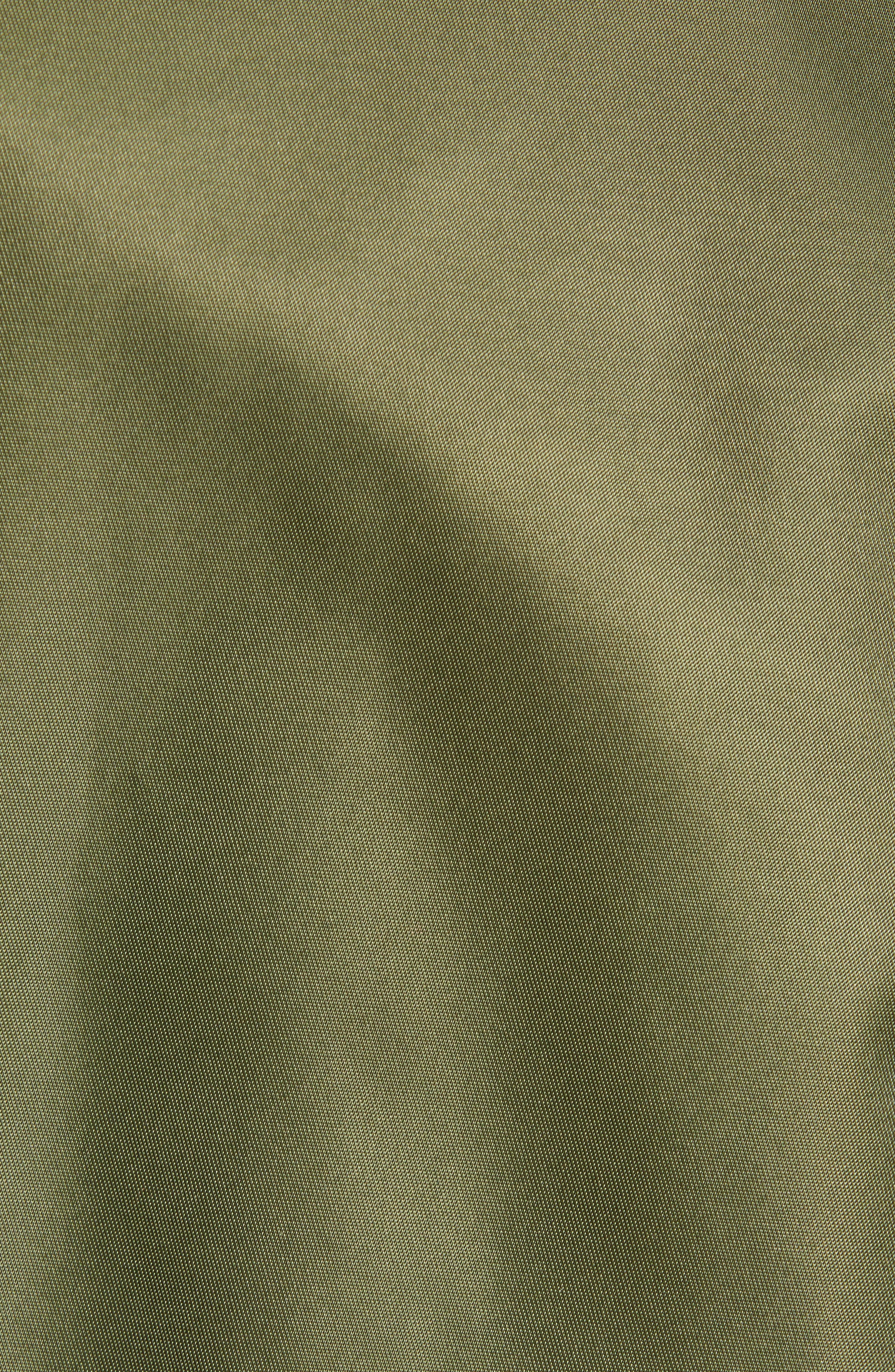 THE VERY WARM, Lucian Reversible Bomber Jacket, Alternate thumbnail 8, color, ARMY GREEN