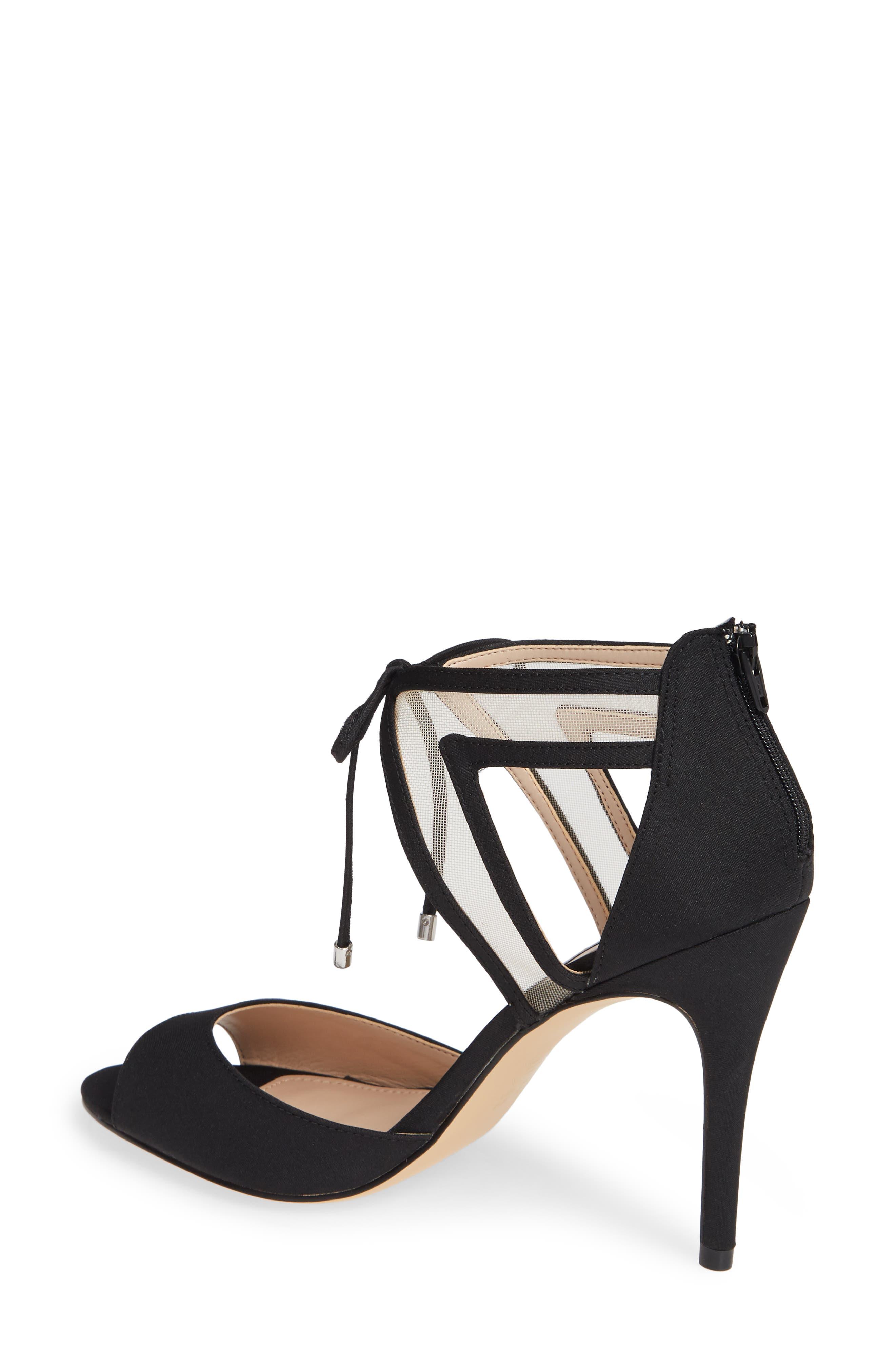 NINA, Caleya Ankle Tie Sandal, Alternate thumbnail 2, color, BLACK CHAMPAGNE