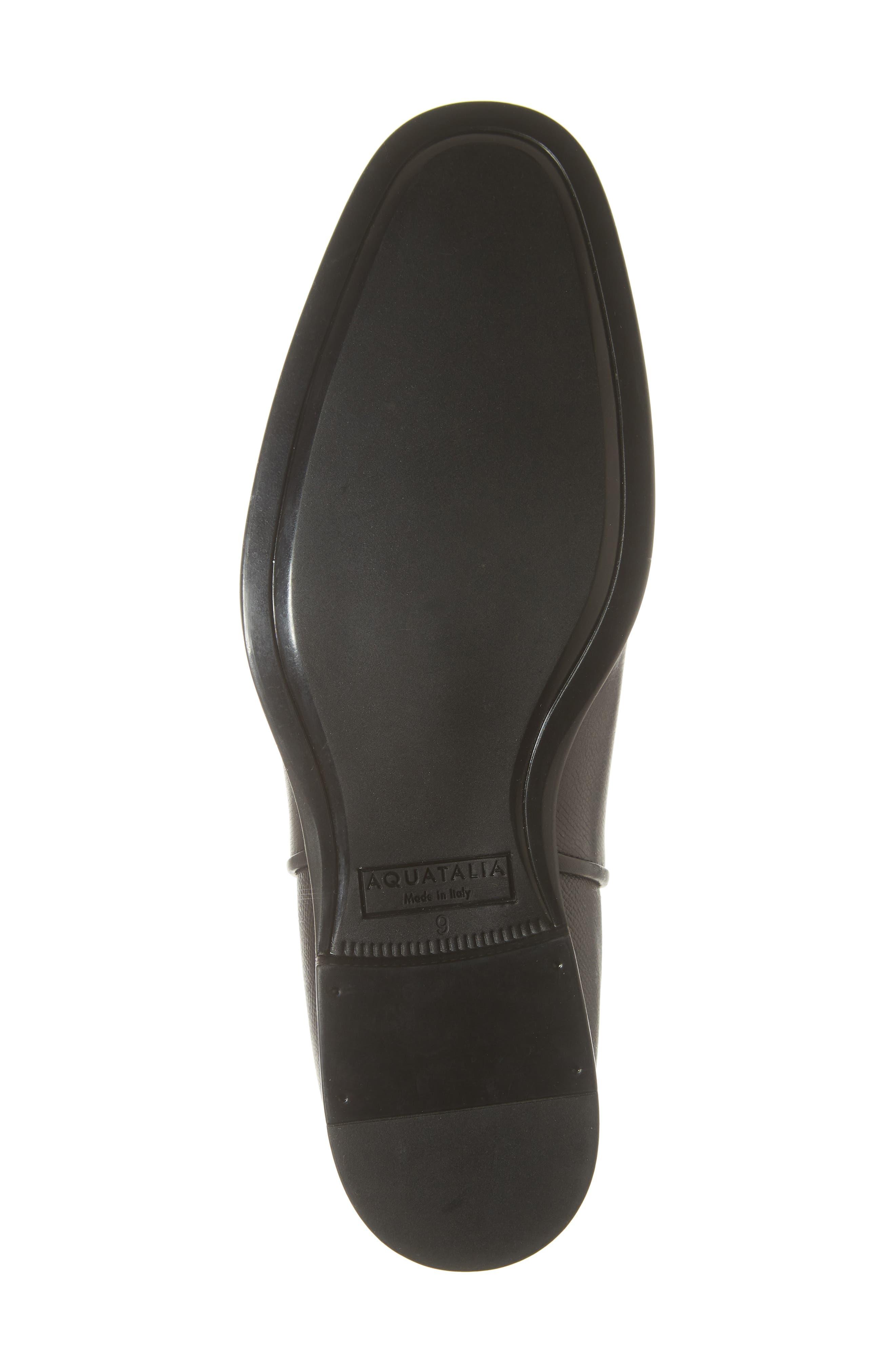 AQUATALIA, 'Adrian' Water Resistant Chelsea Boot, Alternate thumbnail 6, color, BLACK/ BLACK