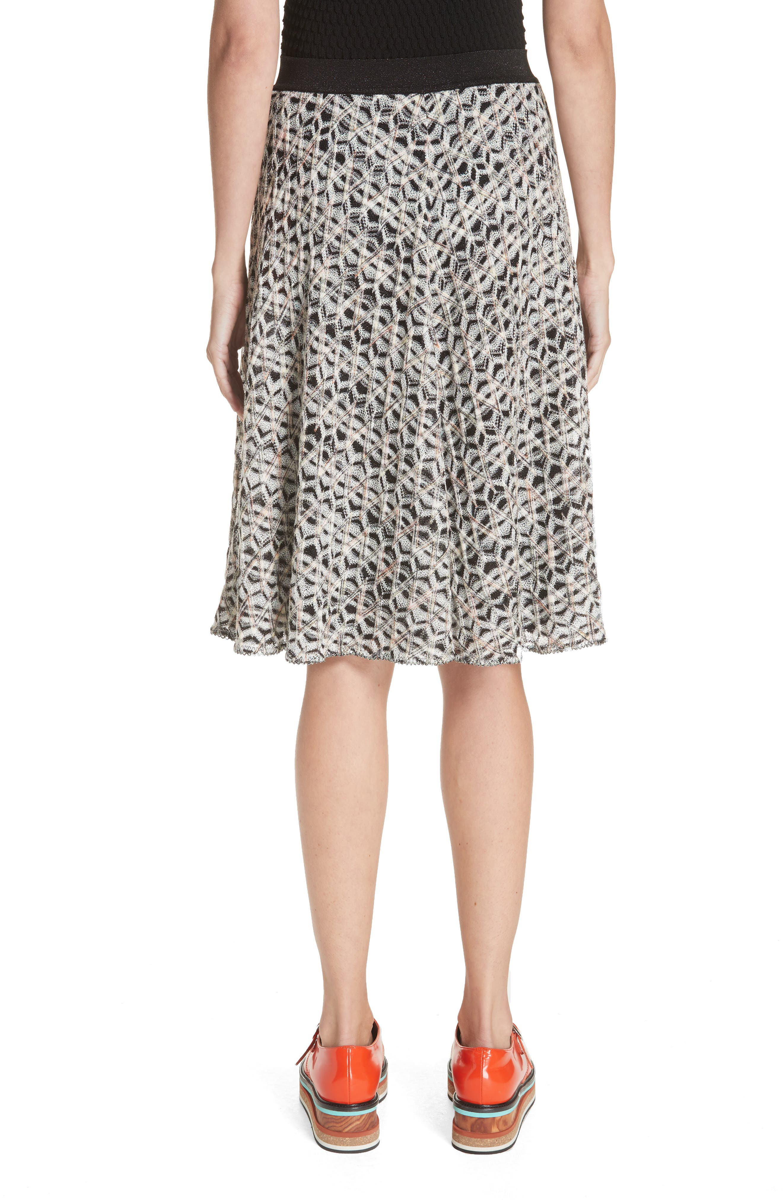 MISSONI, Zig Zag A-Line Skirt, Alternate thumbnail 2, color, MULTI