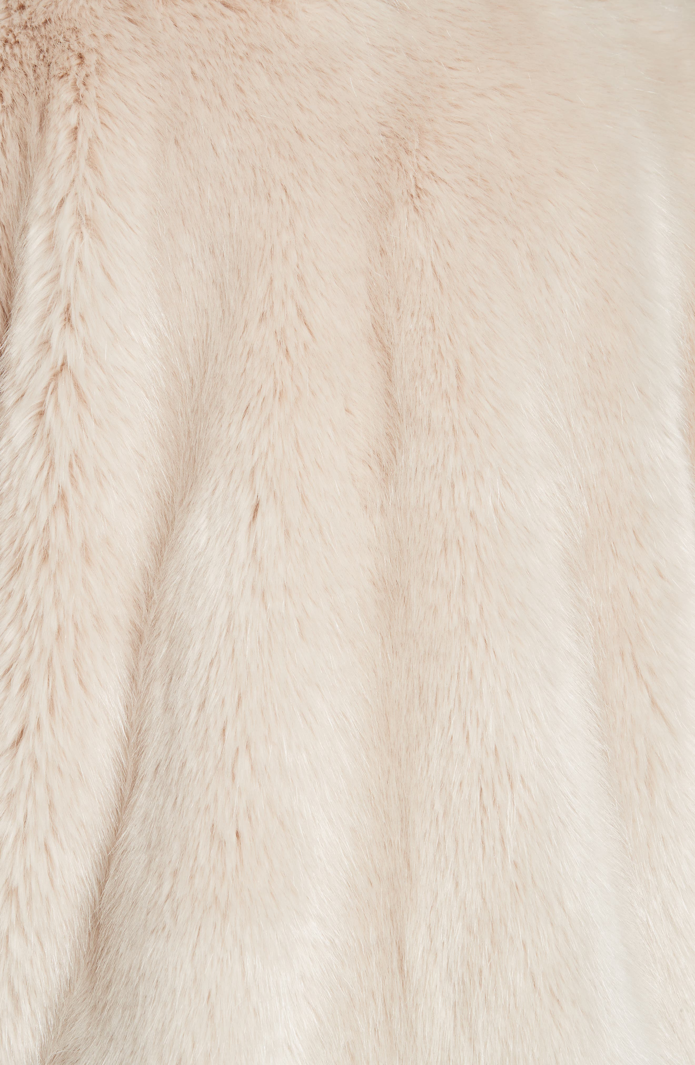 HELMUT LANG, Faux Fur Coat, Alternate thumbnail 7, color, OATMEAL
