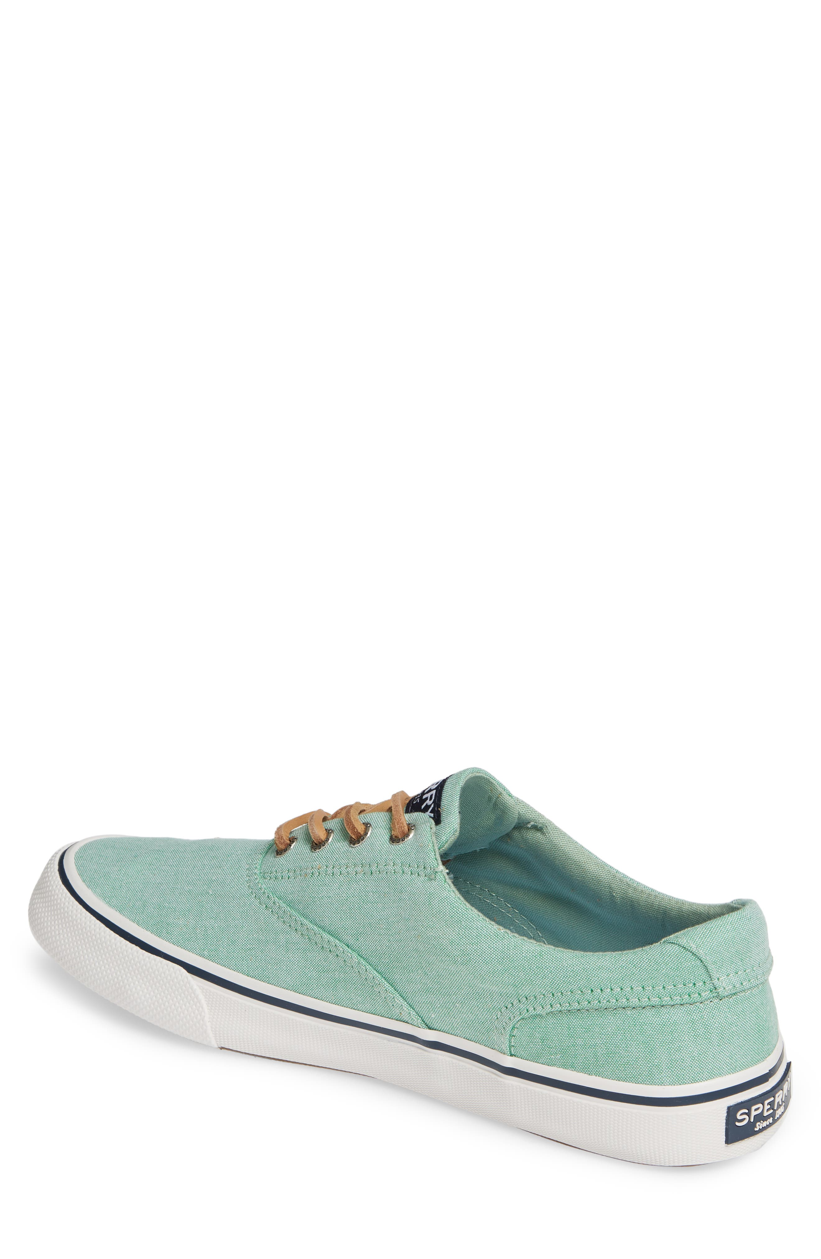 SPERRY, Striper II CVO Oxford Sneaker, Alternate thumbnail 2, color, GREEN