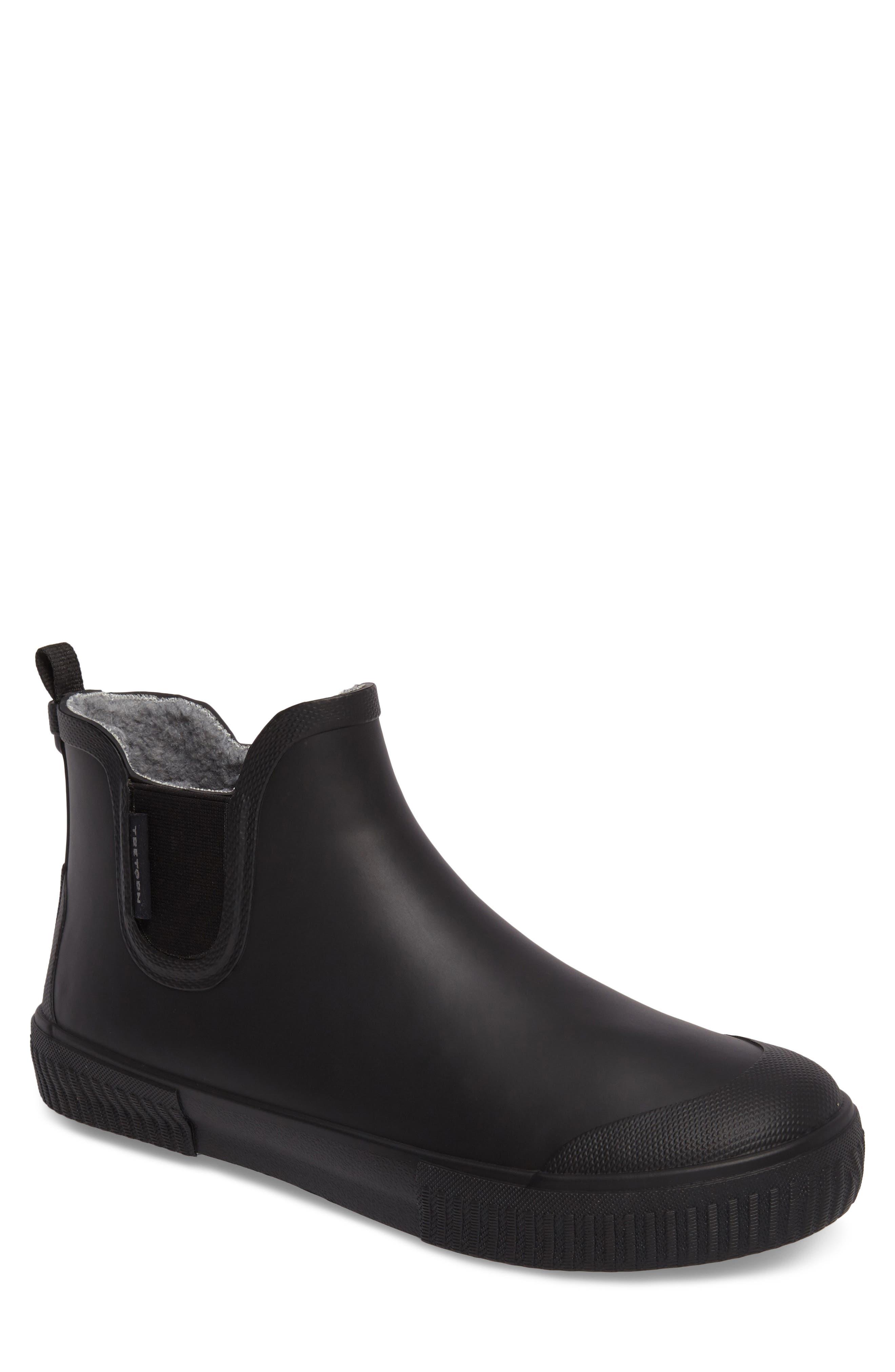 TRETORN Guswnt Chelsea Waterproof Boot, Main, color, BLACK/ BLACK