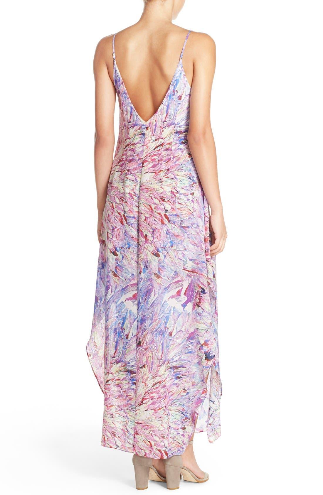 CHARLIE JADE, Print Silk Maxi Dress, Alternate thumbnail 4, color, 675
