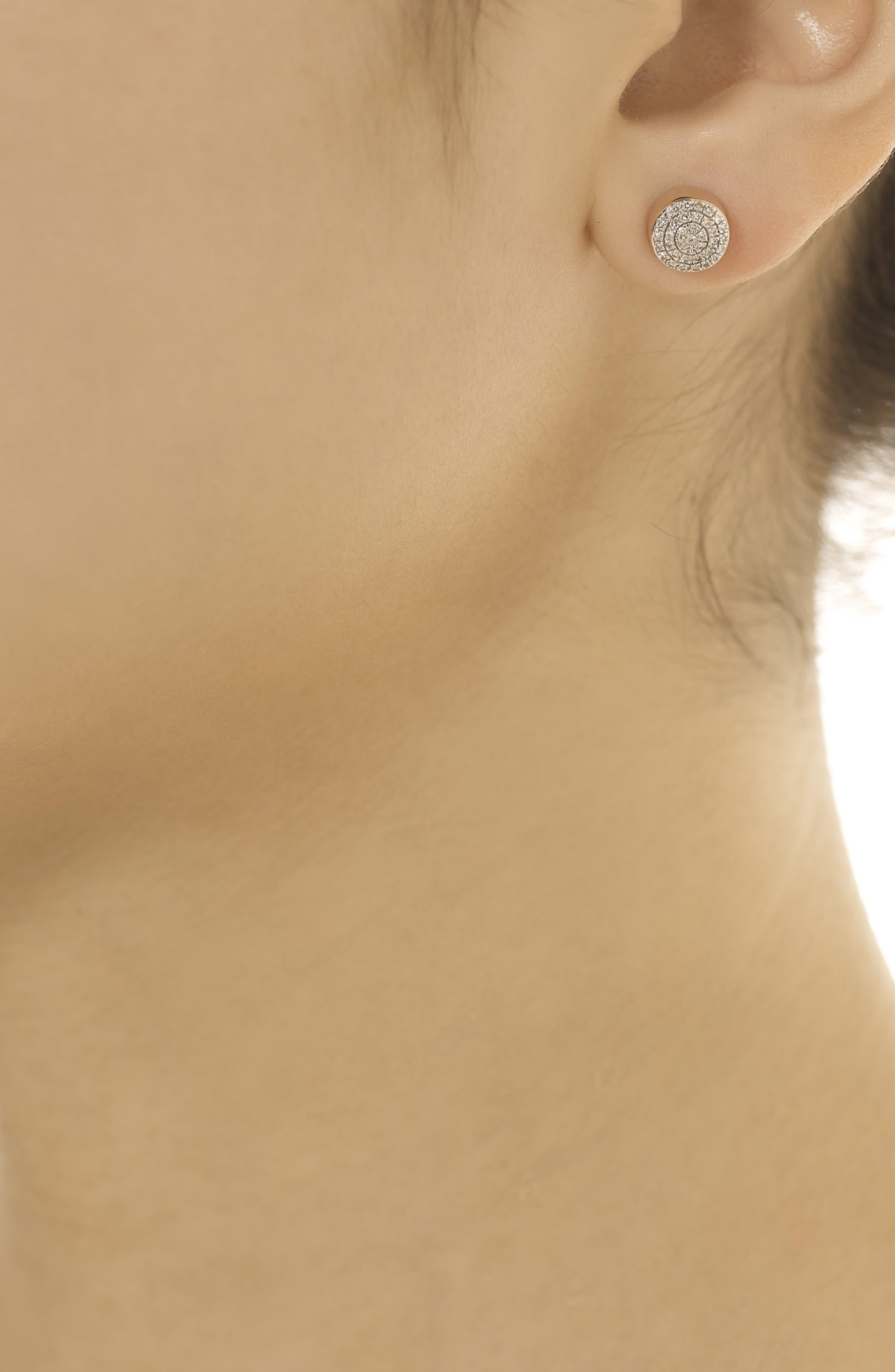 MONICA VINADER, 'Ava' Diamond Button Stud Earrings, Alternate thumbnail 2, color, ROSE GOLD
