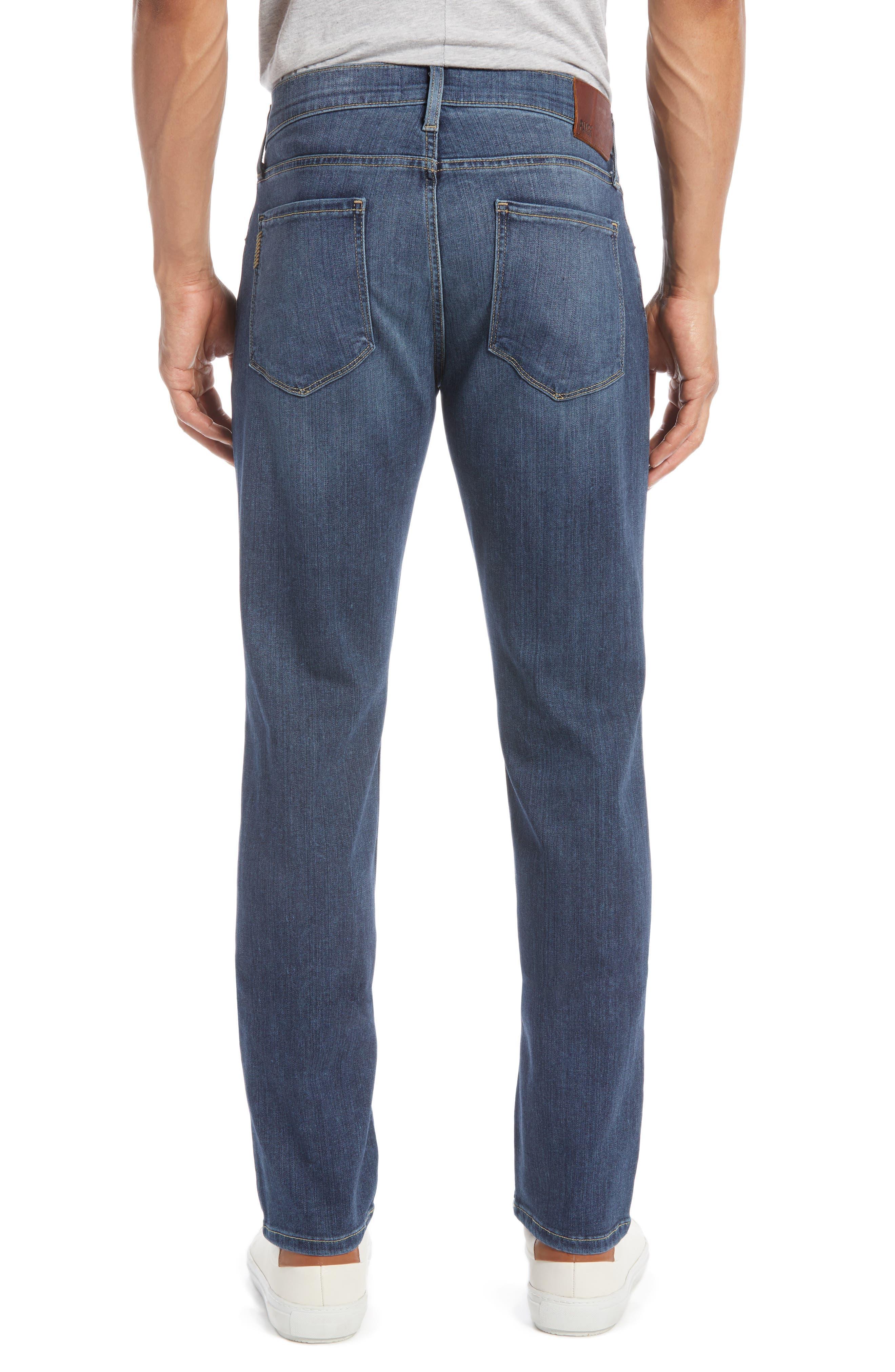 PAIGE, Transcend - Federal Slim Straight Leg Jeans, Alternate thumbnail 4, color, BIRCH