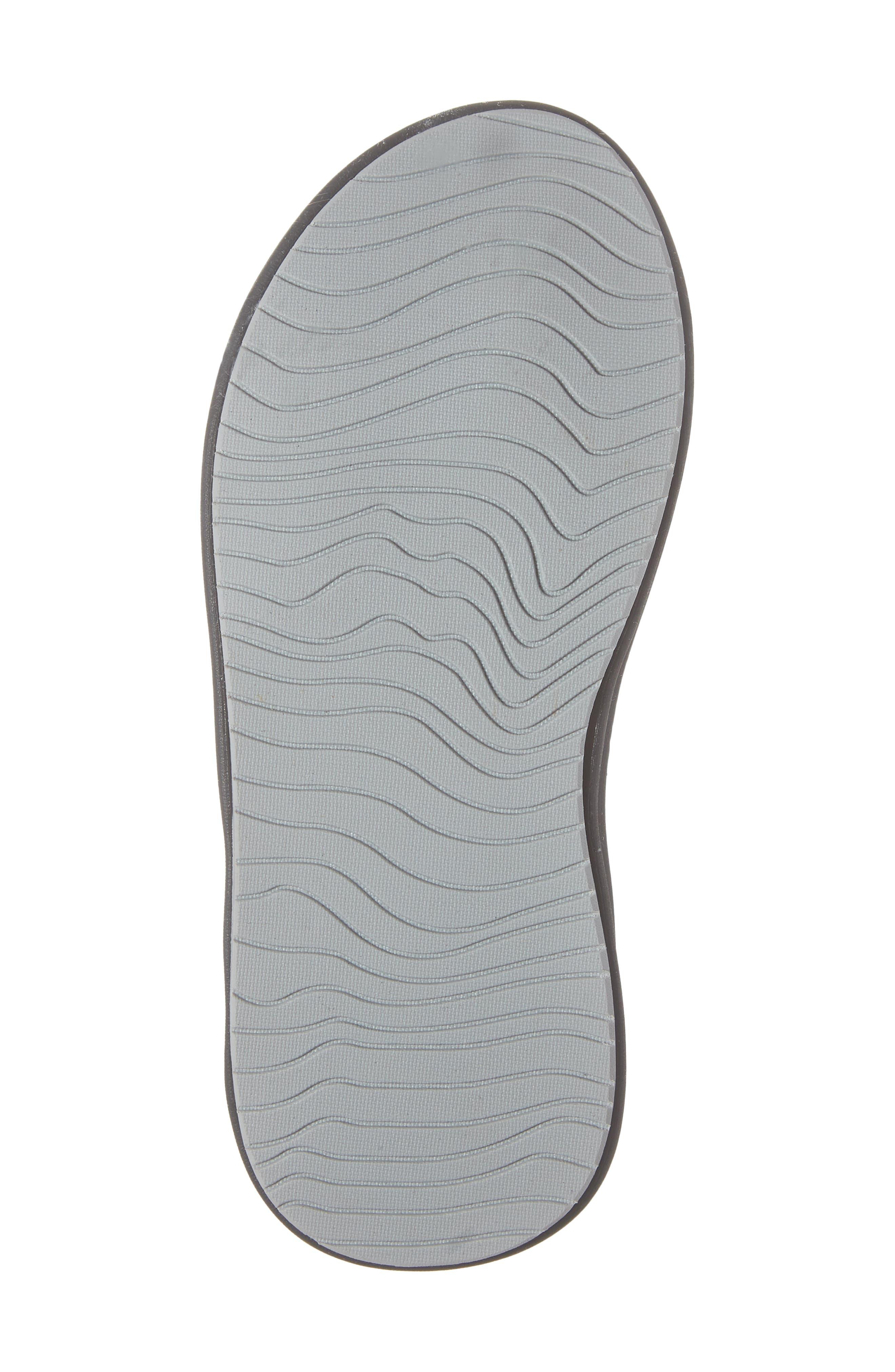 REEF, Grom Rover Water Friendly Sandal, Alternate thumbnail 6, color, BLACK