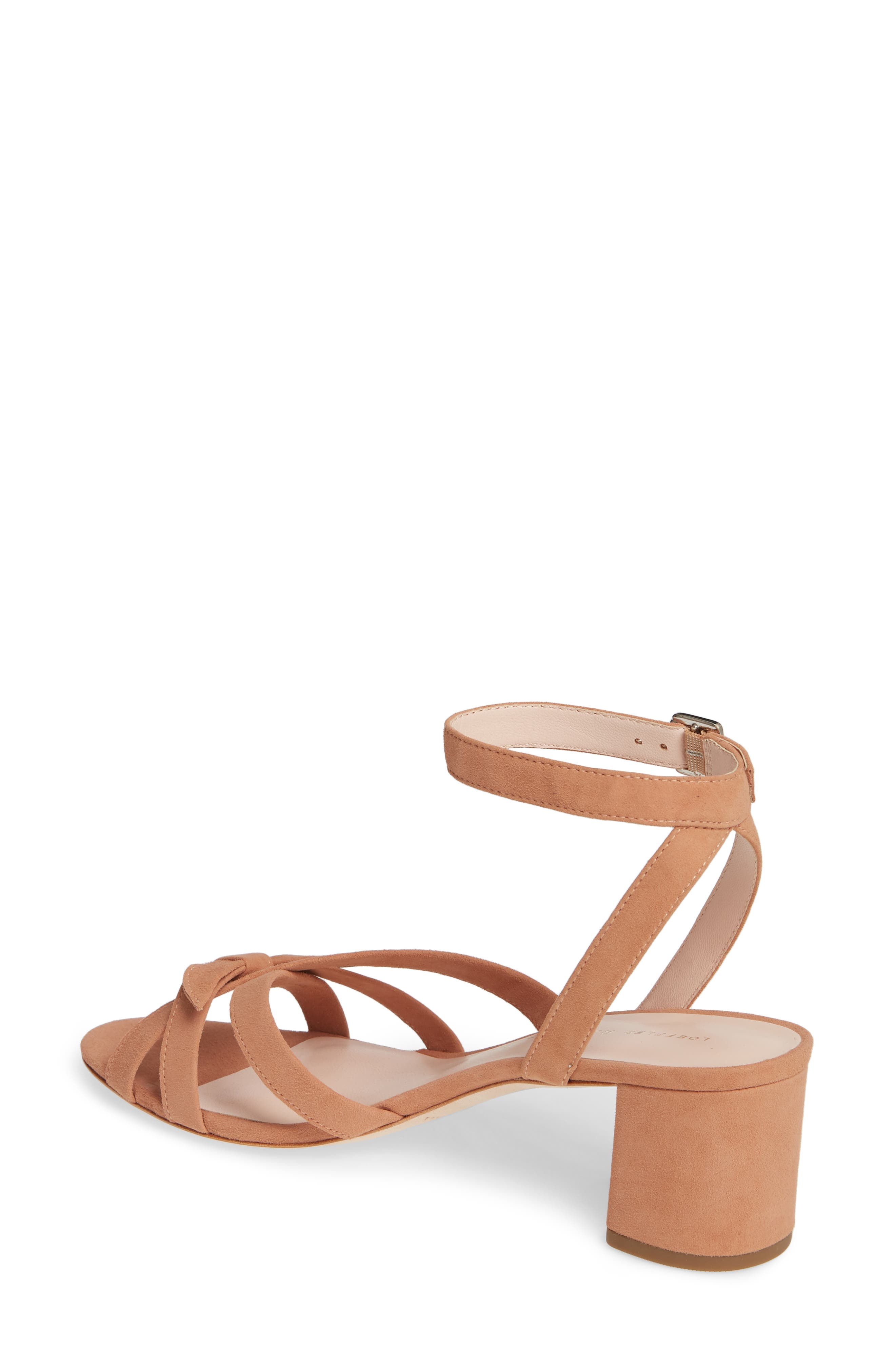 LOEFFLER RANDALL, Anny Knotted Sandal, Alternate thumbnail 2, color, COQUILLE