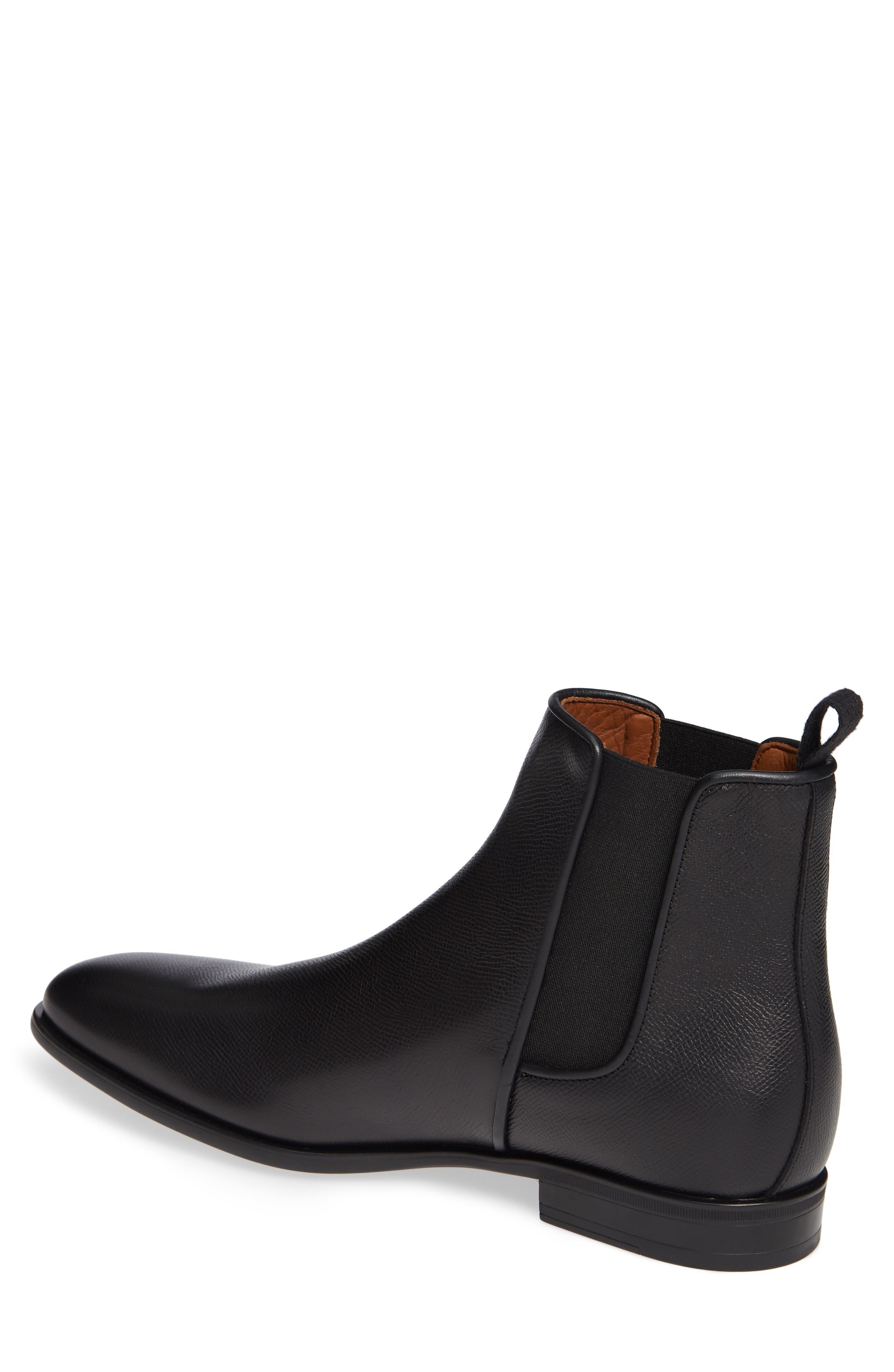 AQUATALIA, 'Adrian' Water Resistant Chelsea Boot, Alternate thumbnail 2, color, BLACK/ BLACK