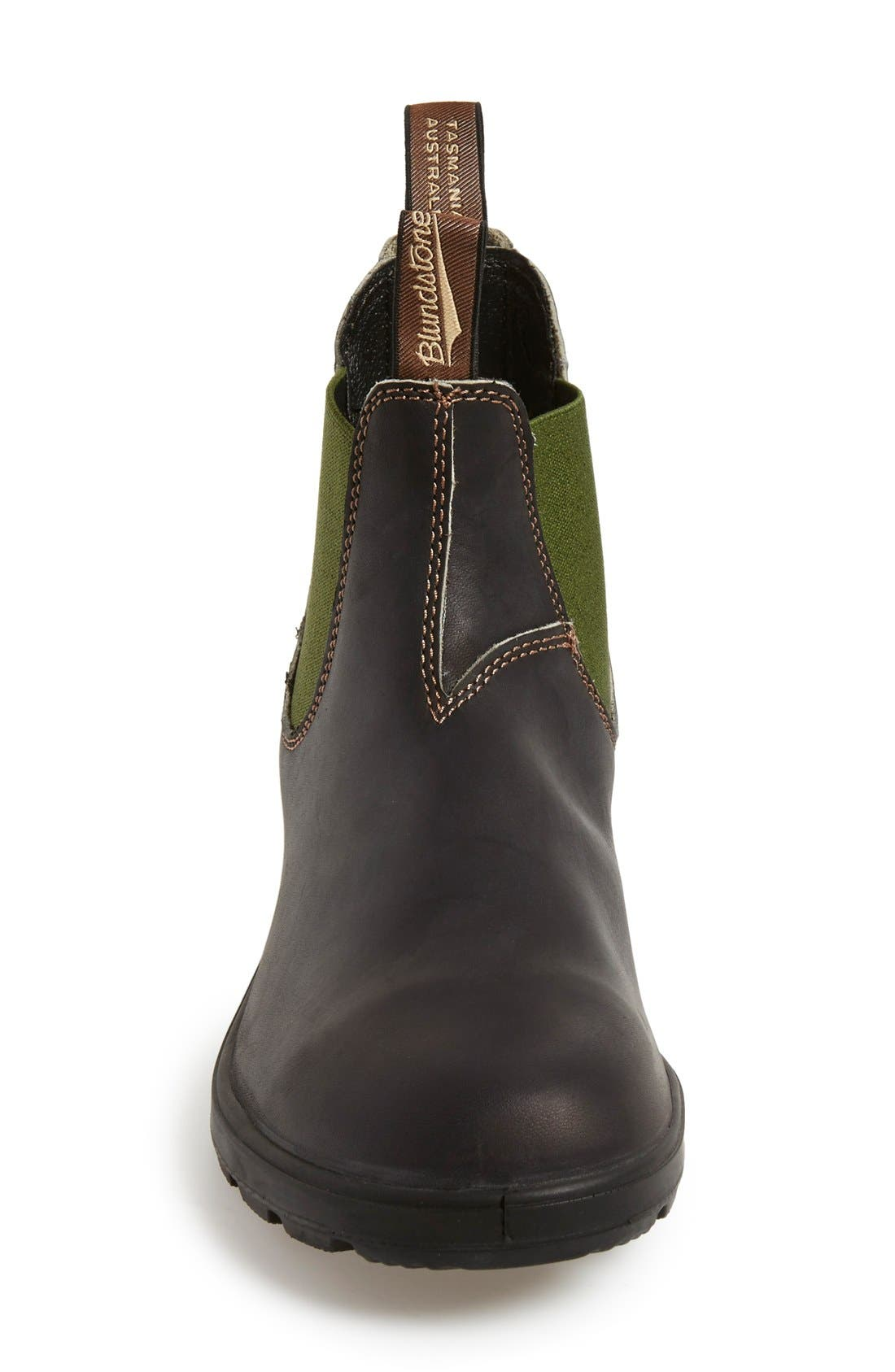 BLUNDSTONE FOOTWEAR, Chelsea Boot, Alternate thumbnail 3, color, STOUT BROWN