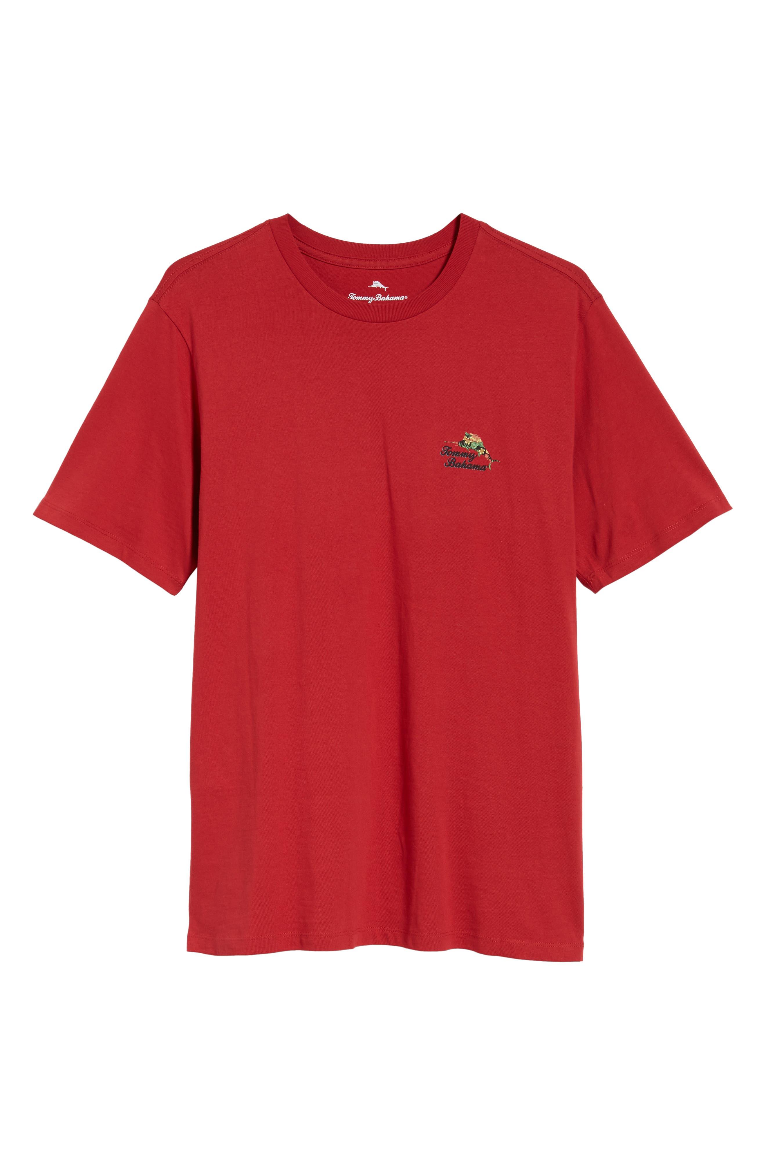 TOMMY BAHAMA, Alo-Ho Ho-Ha Graphic T-Shirt, Alternate thumbnail 6, color, SCOOTER RED