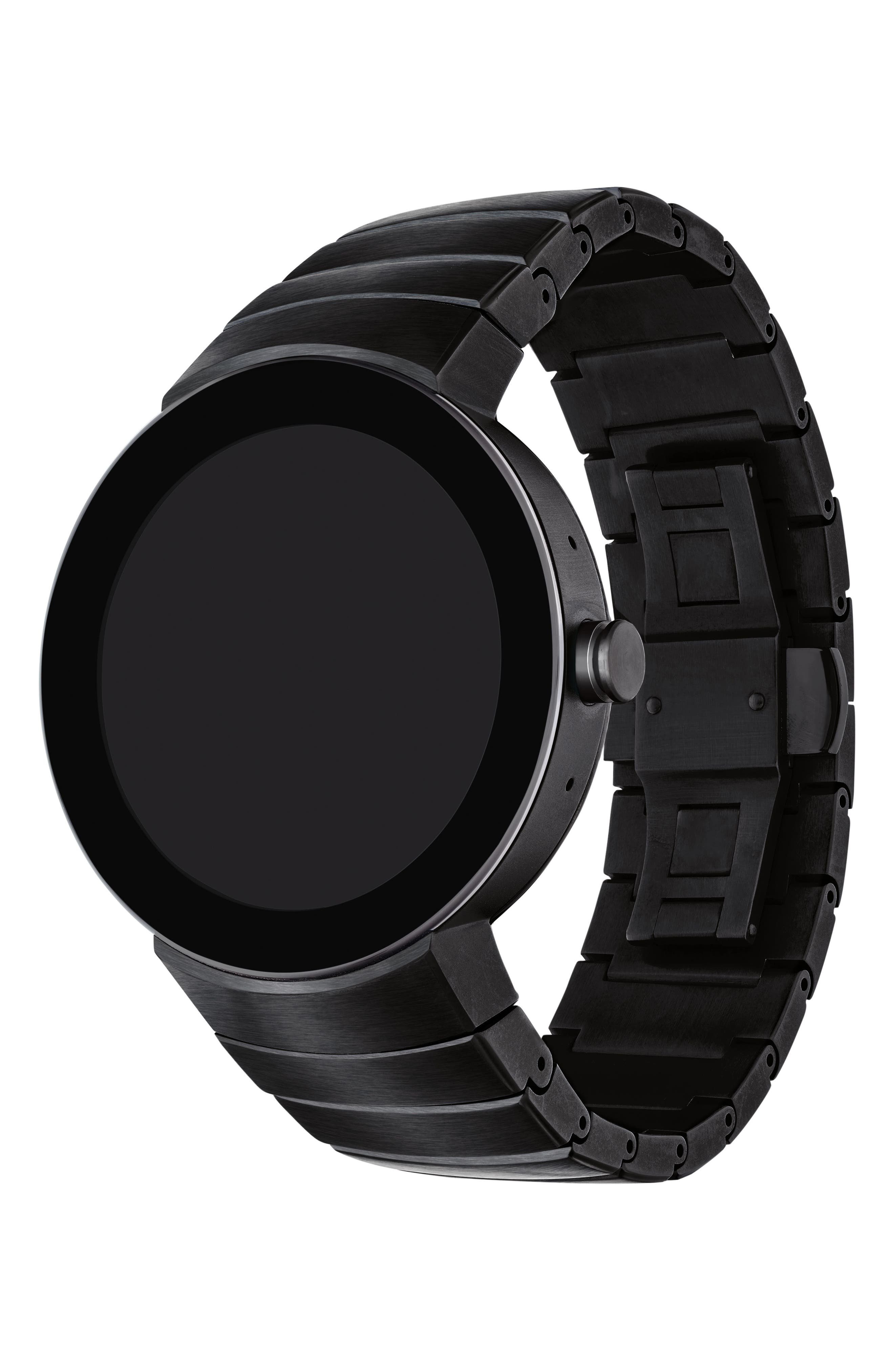 MOVADO, Connect Bracelet Smart Watch, 46mm, Alternate thumbnail 2, color, 001