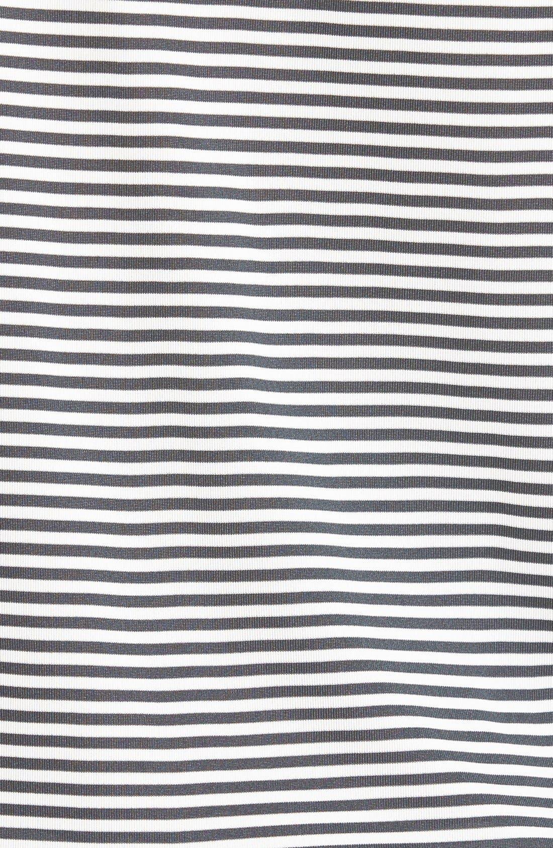 CUTTER & BUCK, Trevor Stripe DryTec Polo, Alternate thumbnail 3, color, ONYX/ WHITE