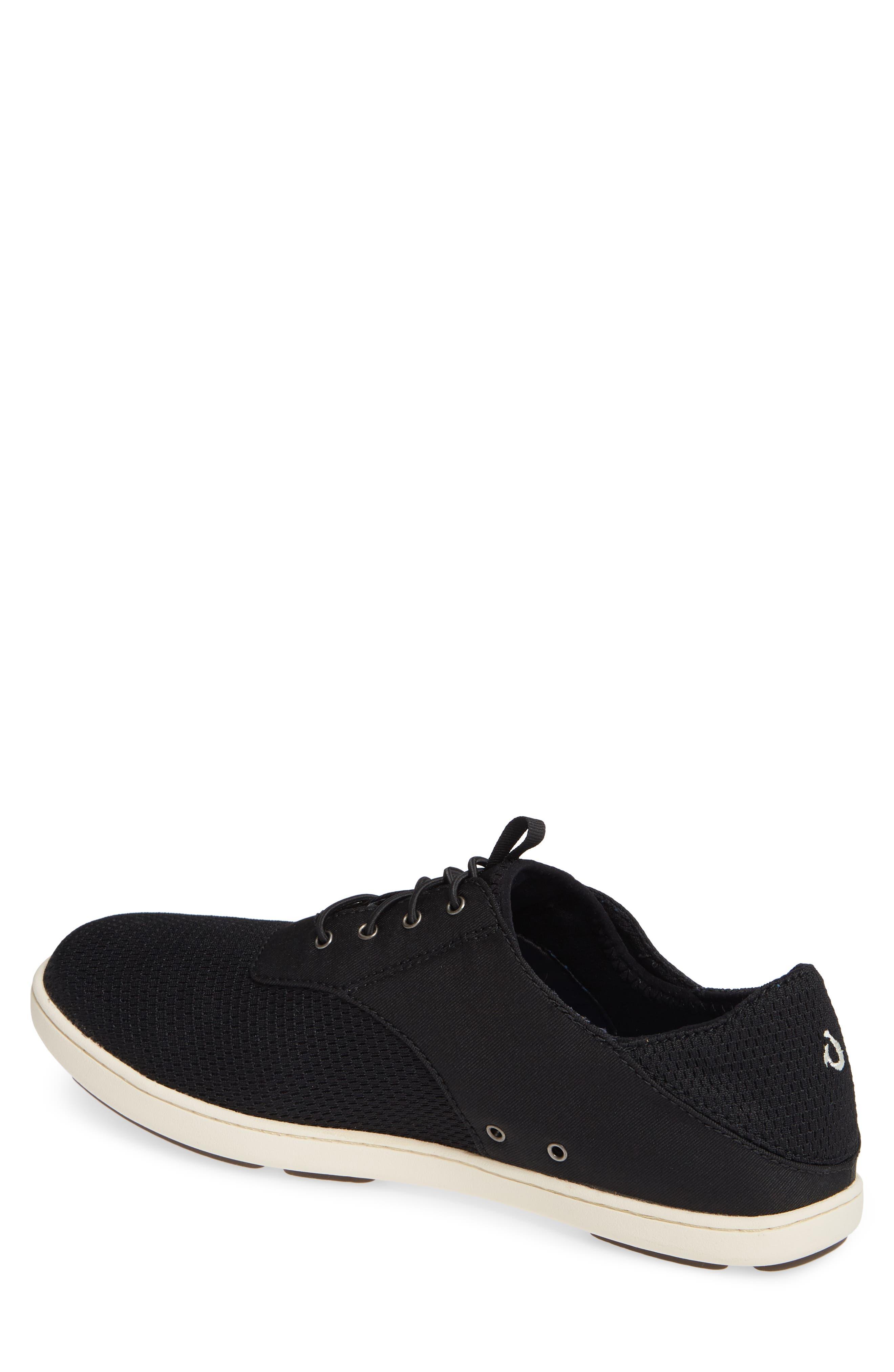 OLUKAI, Nohea Moku Sneaker, Alternate thumbnail 2, color, ONYX/ ONYX TEXTILE