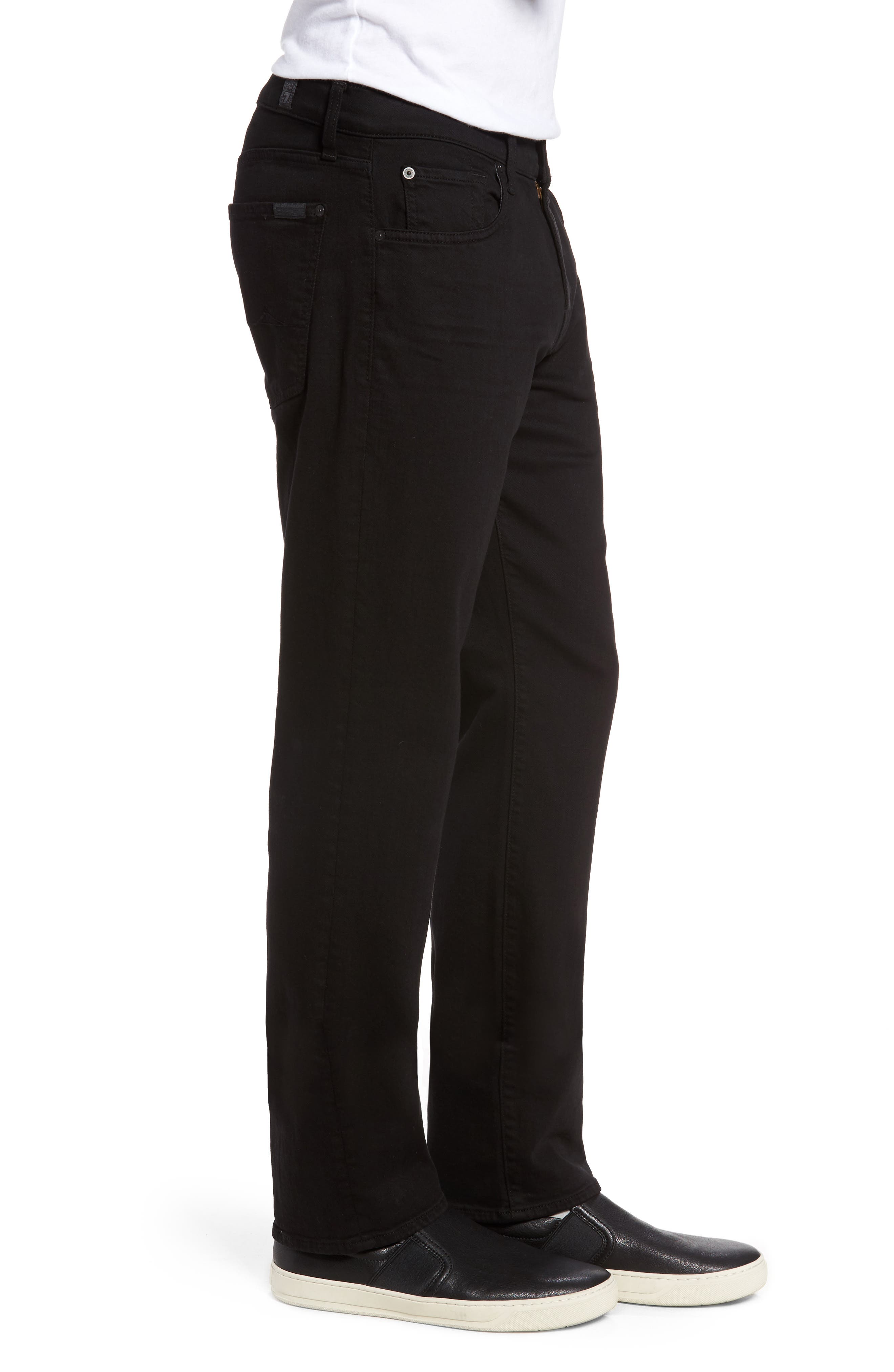 7 FOR ALL MANKIND<SUP>®</SUP>, Luxe Performance - Slimmy Slim Fit Jeans, Alternate thumbnail 3, color, ANNEX BLACK
