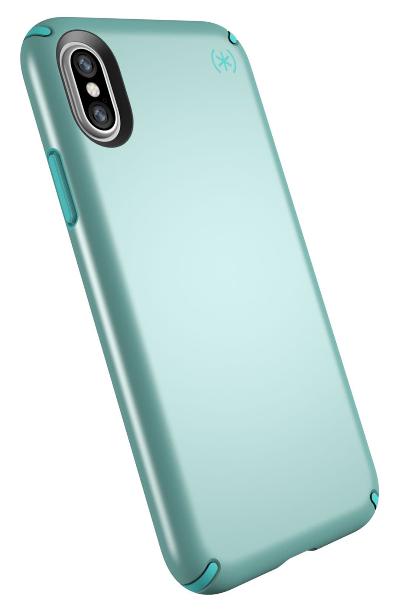 SPECK, iPhone X & Xs Case, Alternate thumbnail 8, color, PEPPERMINT GREEN / TEAL